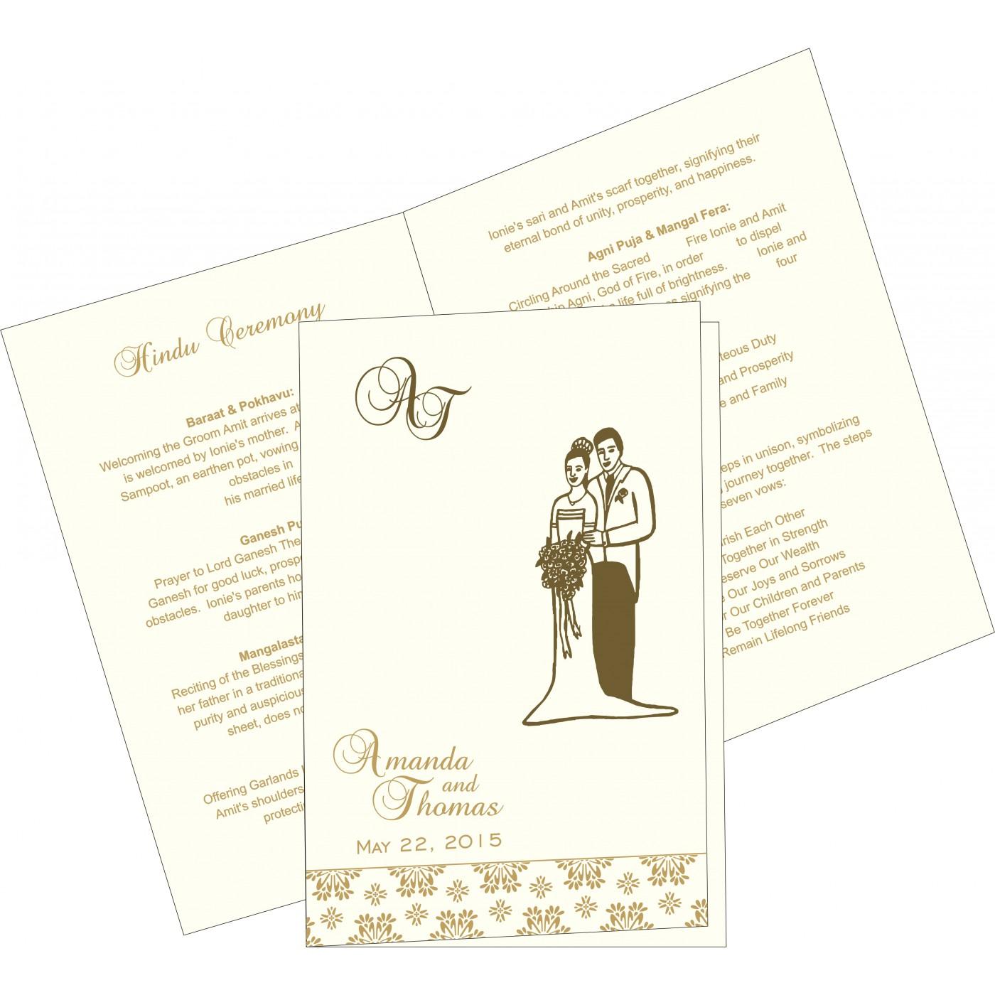 Program Booklets : PC-8237E - 123WeddingCards