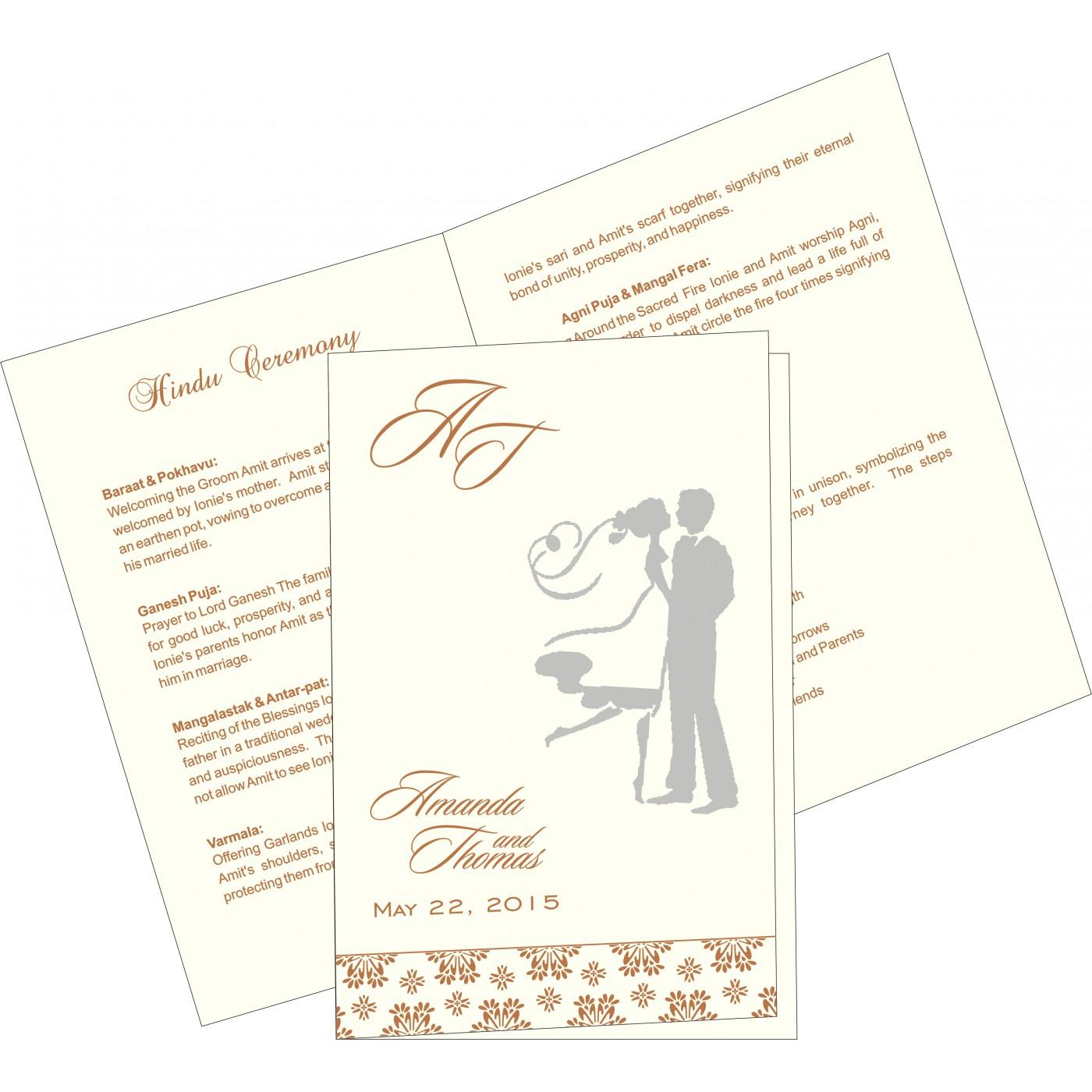 Program Booklets : PC-8237J - 123WeddingCards