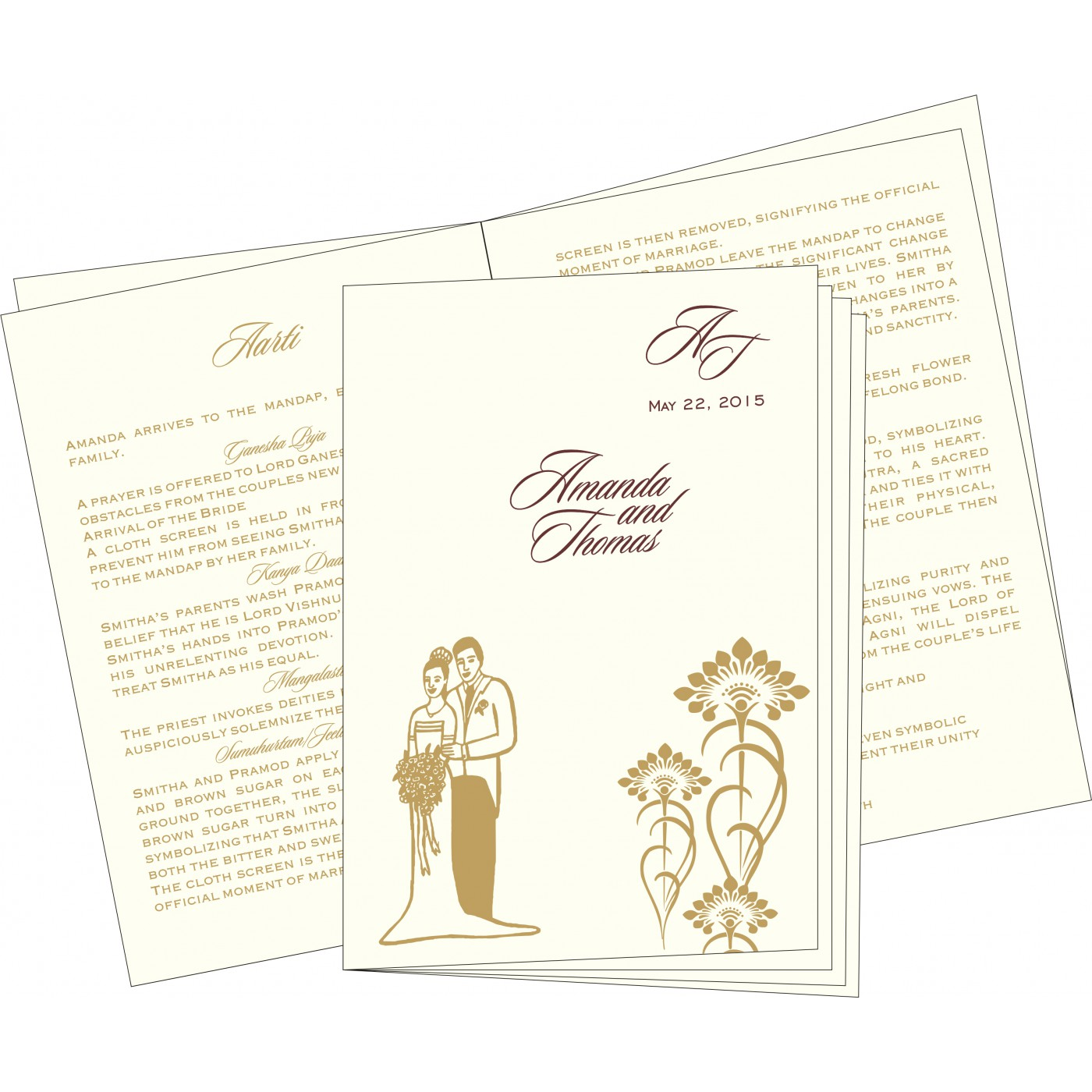 Program Booklets : PC-8239C - 123WeddingCards