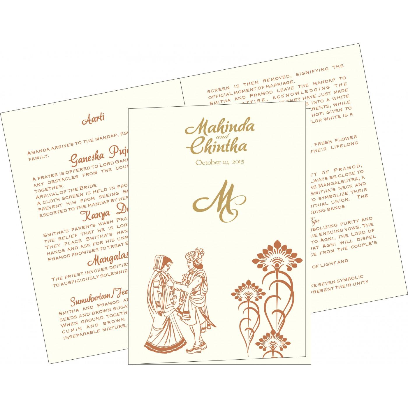Program Booklets : PC-8239I - 123WeddingCards