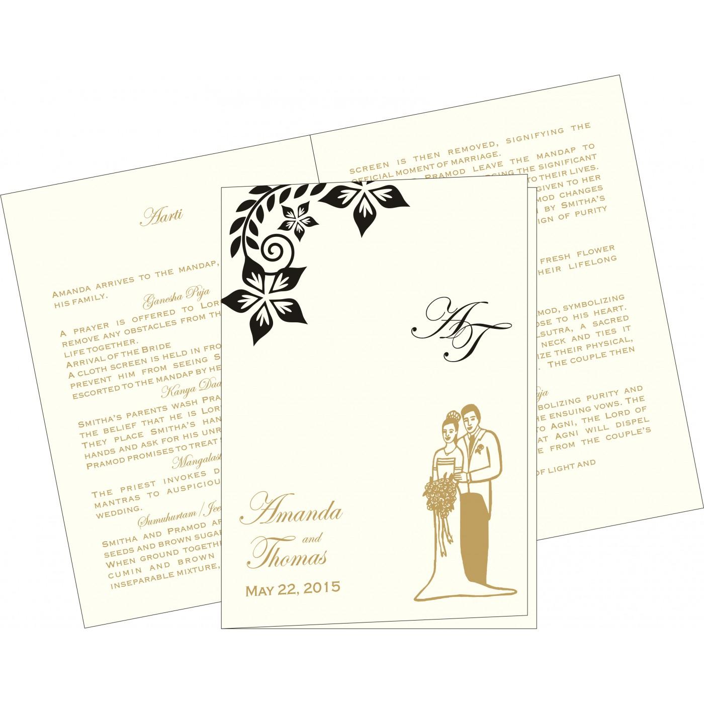 Program Booklets : PC-8240A - 123WeddingCards