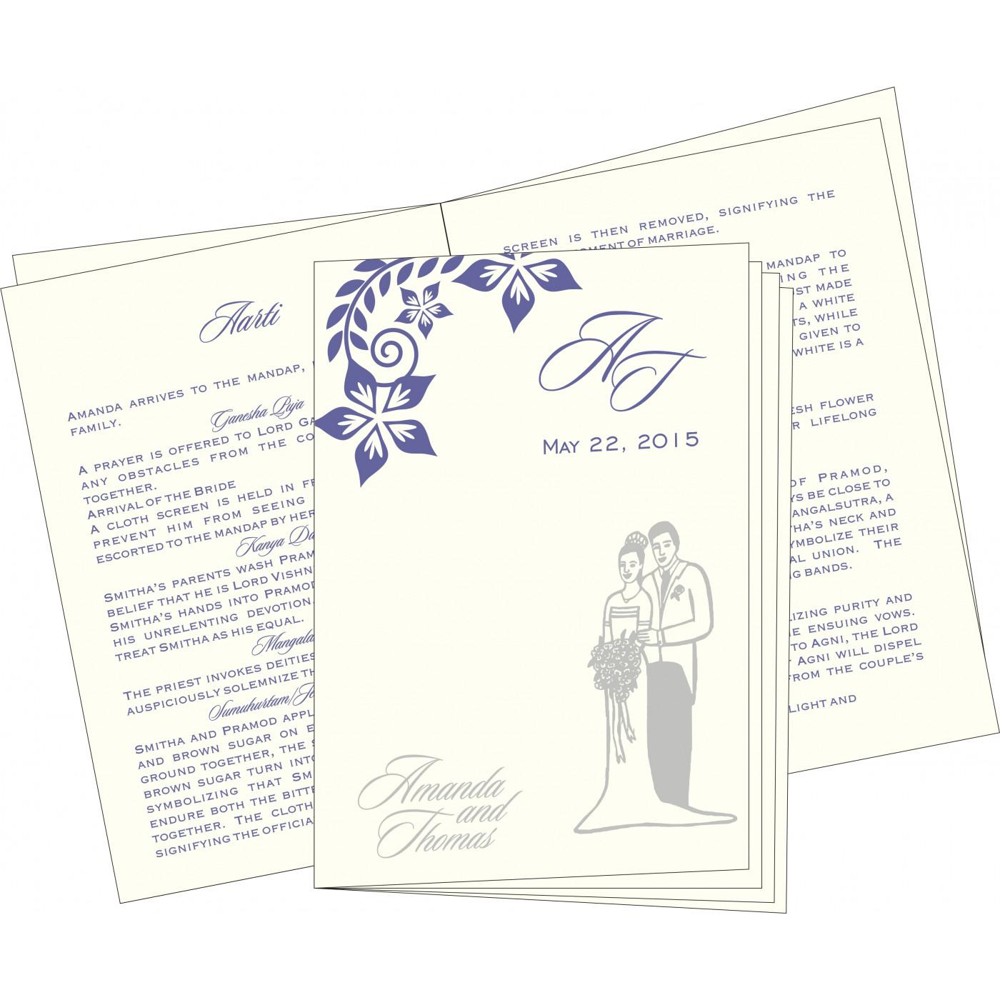 Program Booklets : PC-8240B - 123WeddingCards