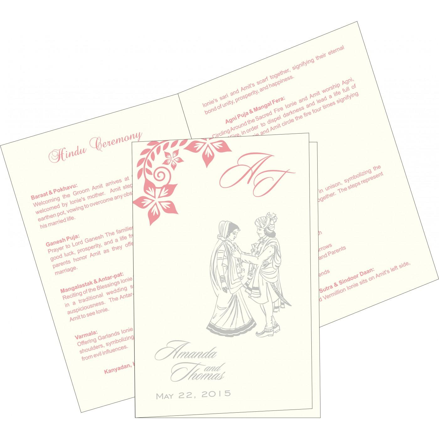 Program Booklets : PC-8240G - 123WeddingCards