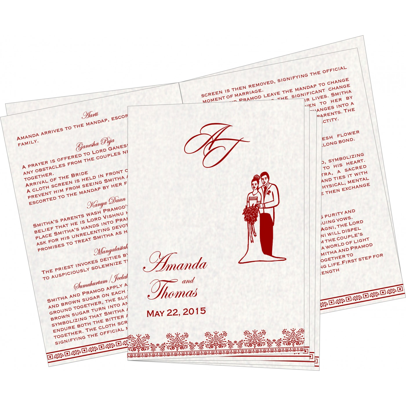 Program Booklets : PC-8241B - 123WeddingCards