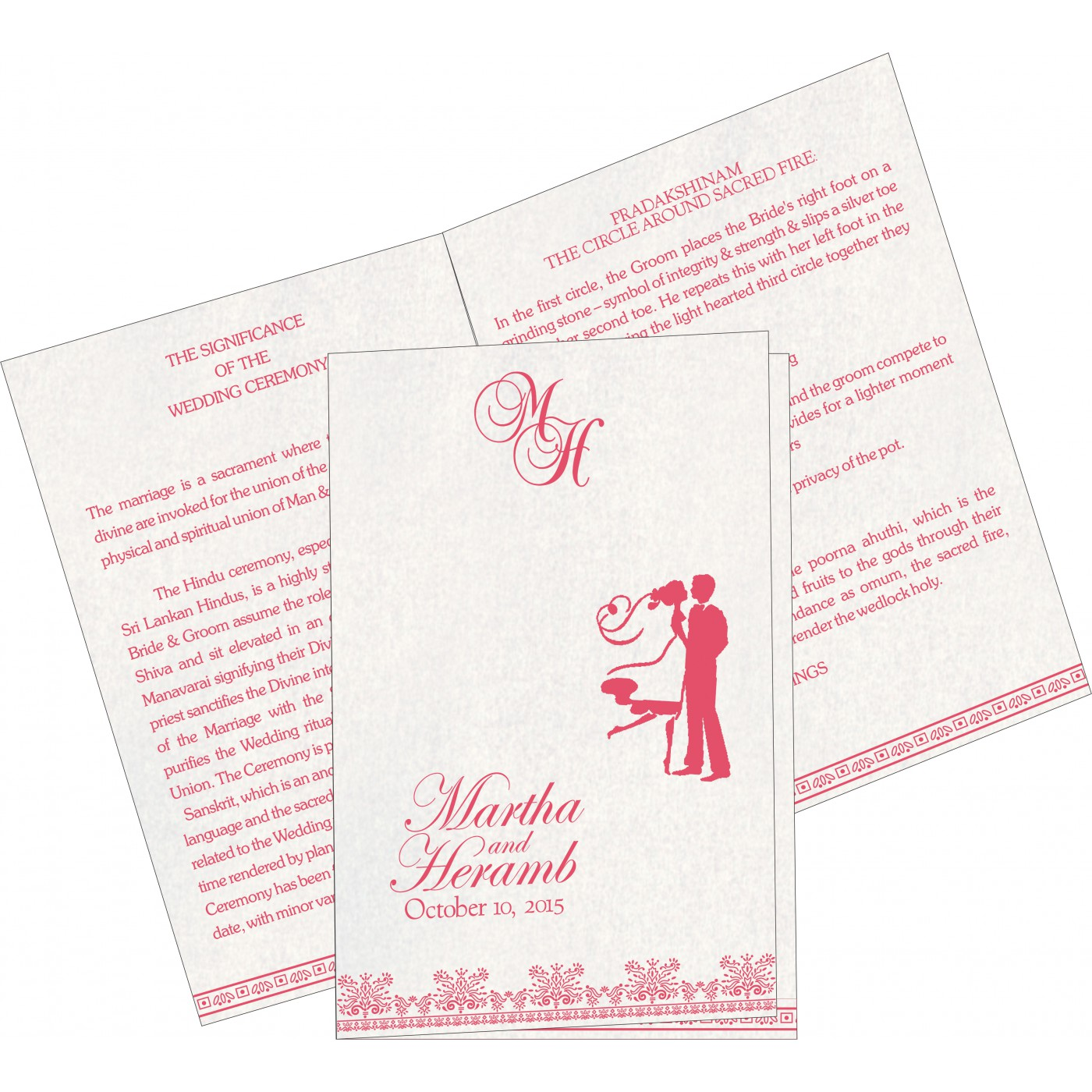 Program Booklets : PC-8241C - 123WeddingCards