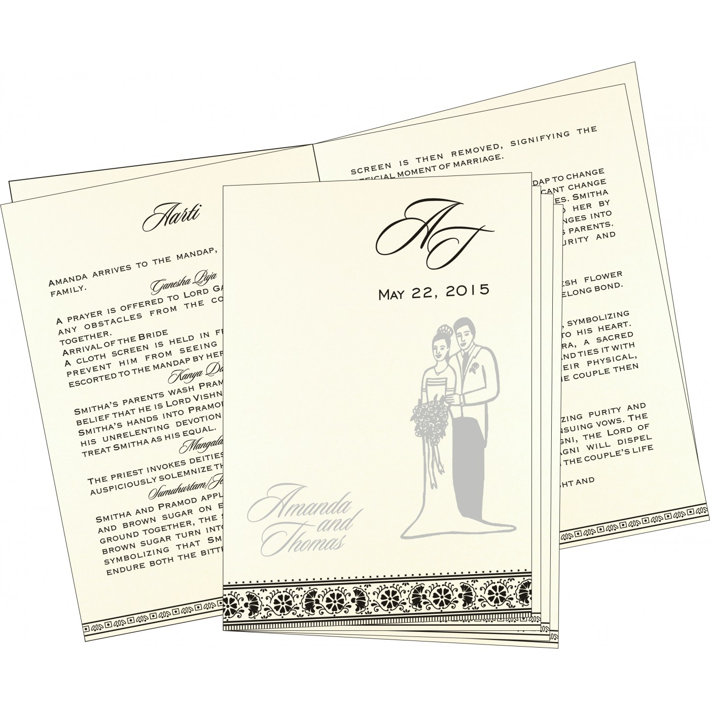 Program Booklets : PC-8242B - 123WeddingCards