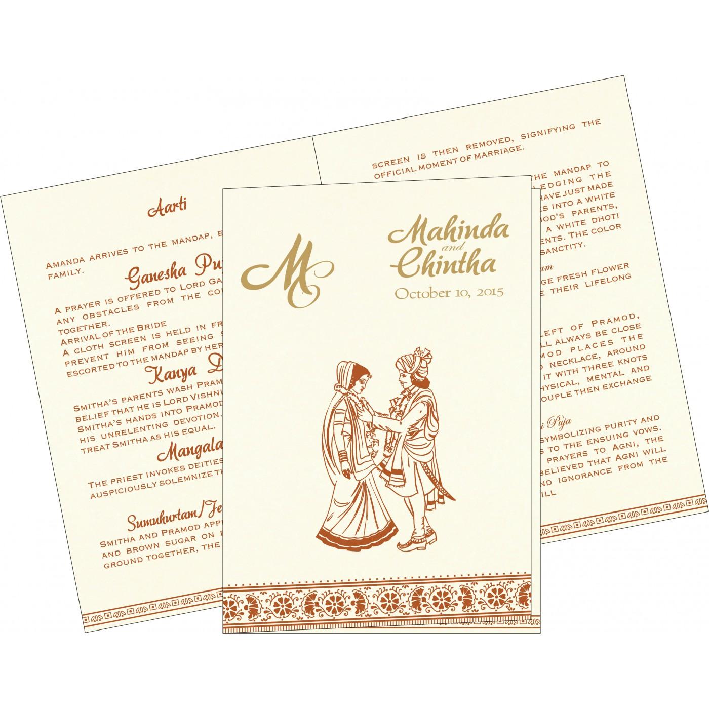 Program Booklets : PC-8242E - 123WeddingCards