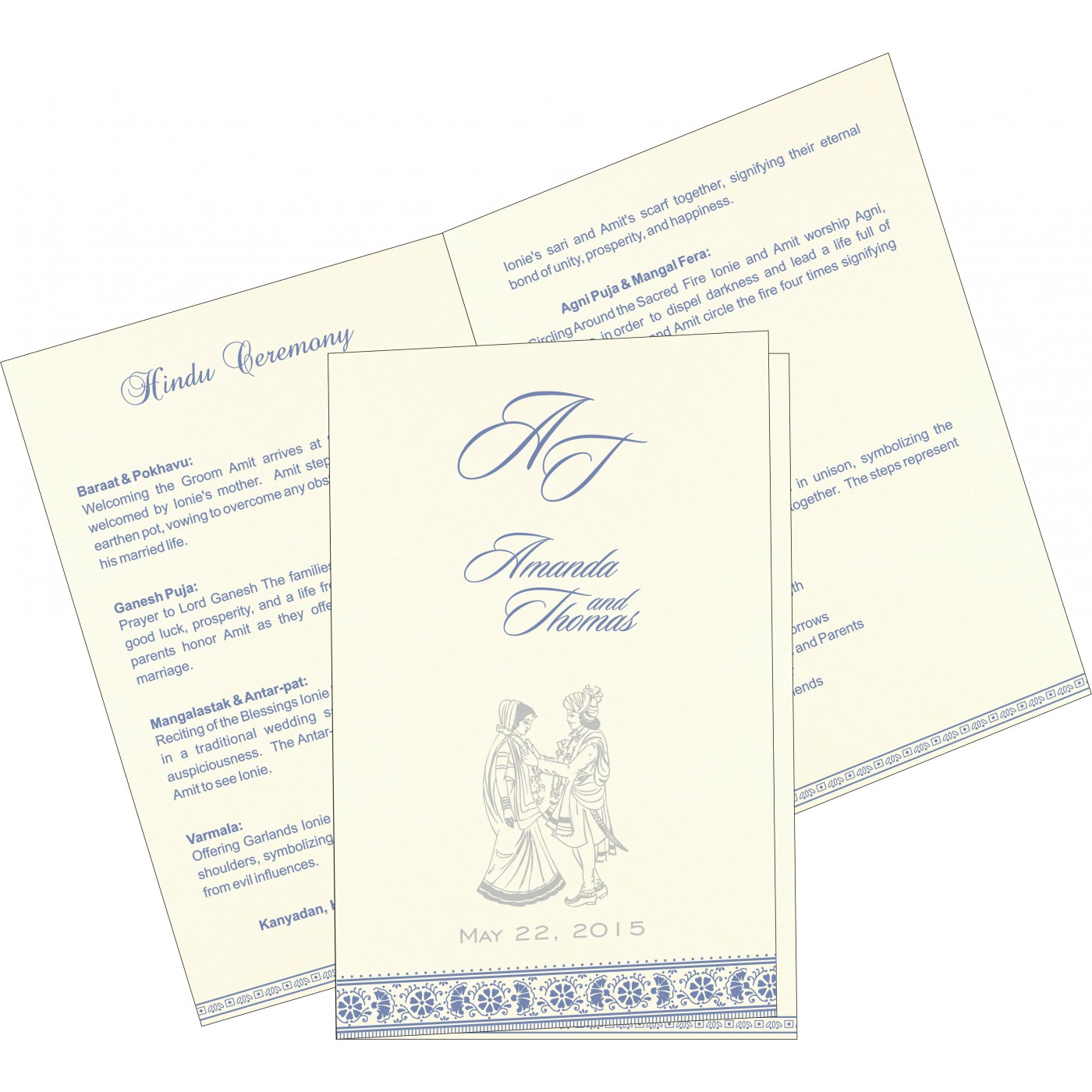 Program Booklets : PC-8242J - 123WeddingCards