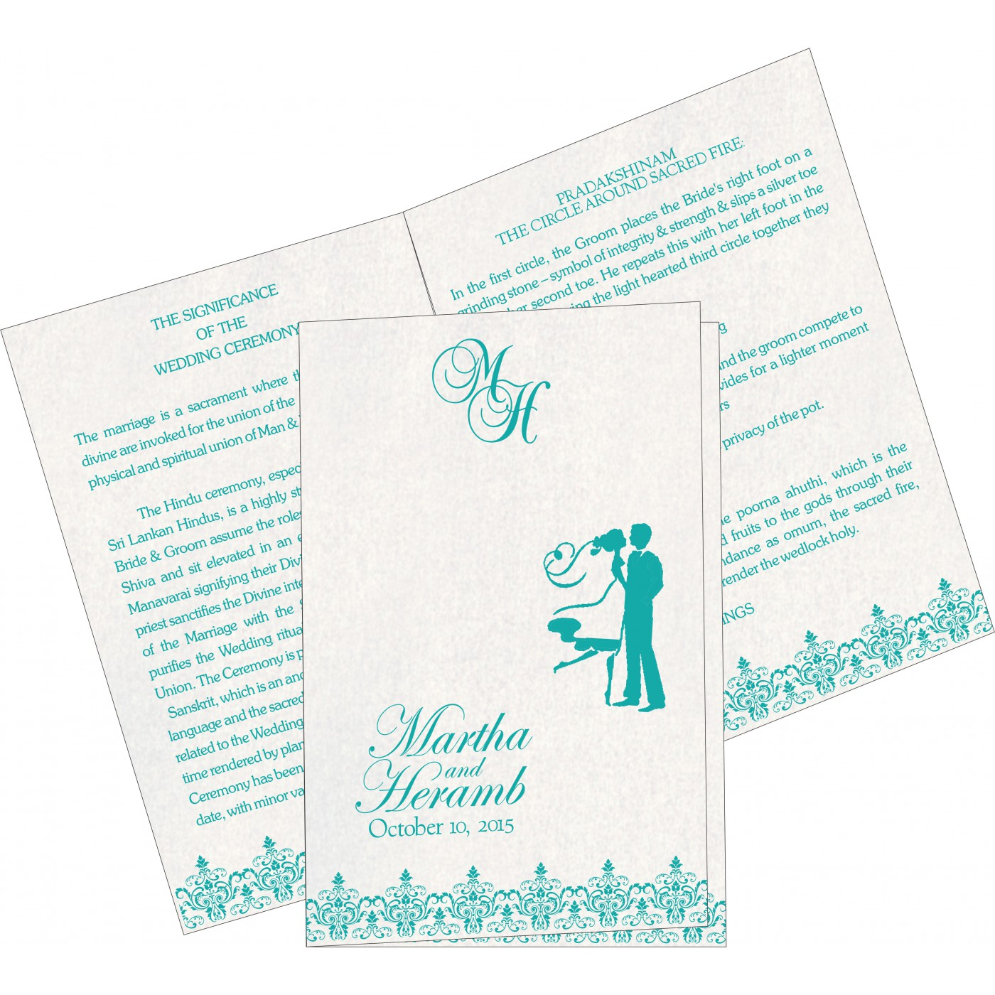 Program Booklets : PC-8244C - 123WeddingCards