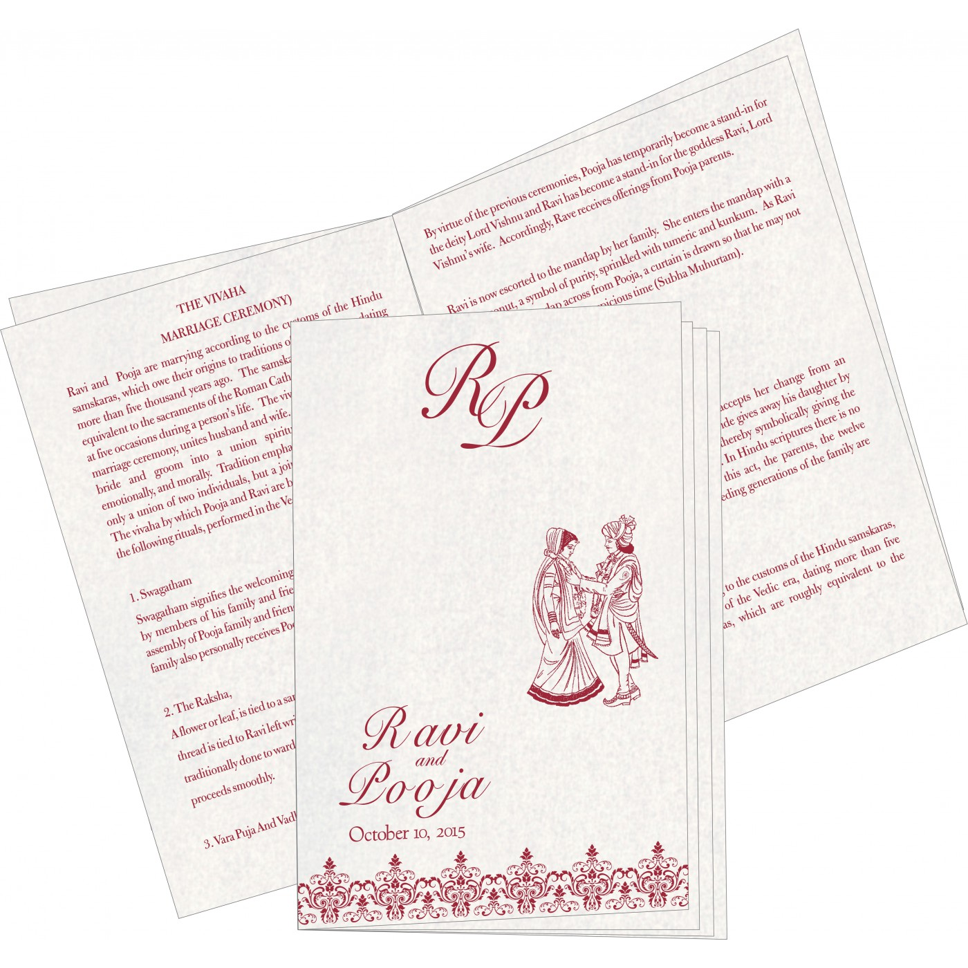 Program Booklets : PC-8244E - 123WeddingCards