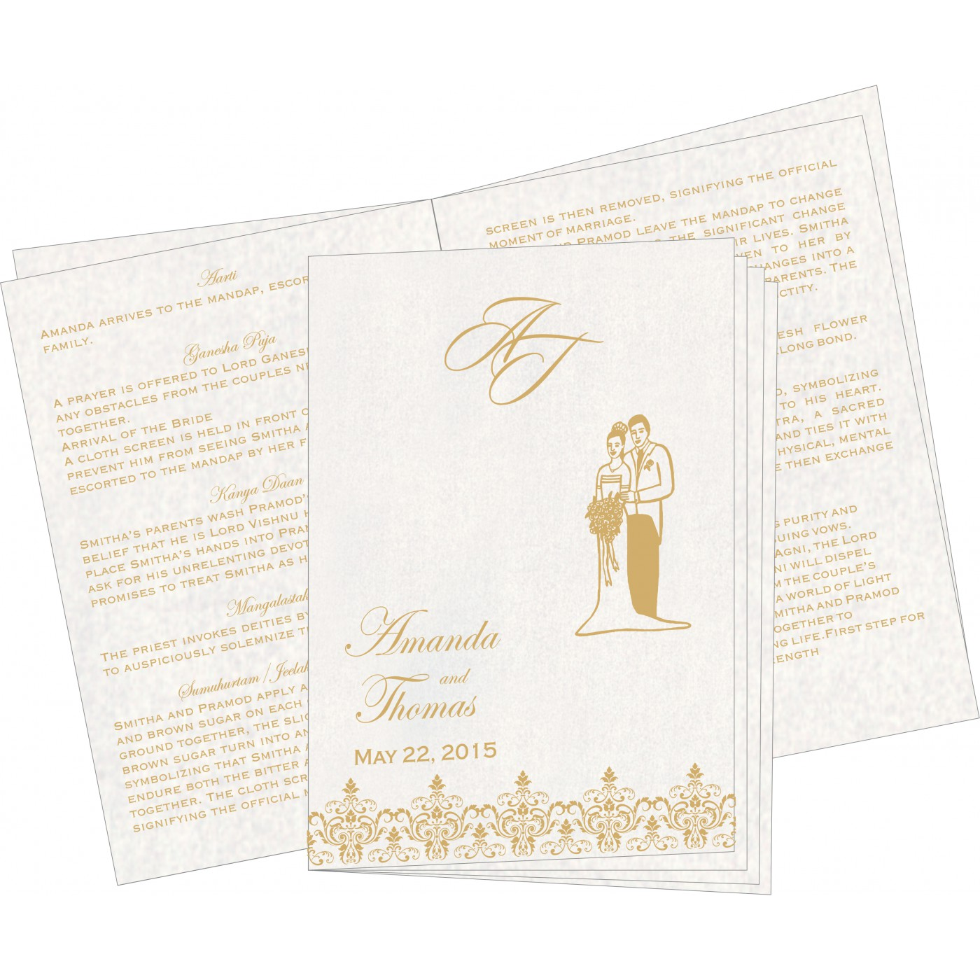Program Booklets : PC-8244J - 123WeddingCards