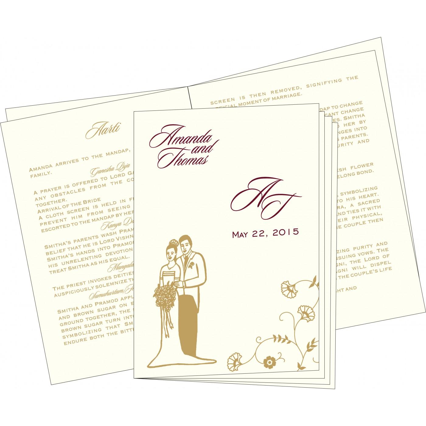 Program Booklets : PC-8248B - 123WeddingCards