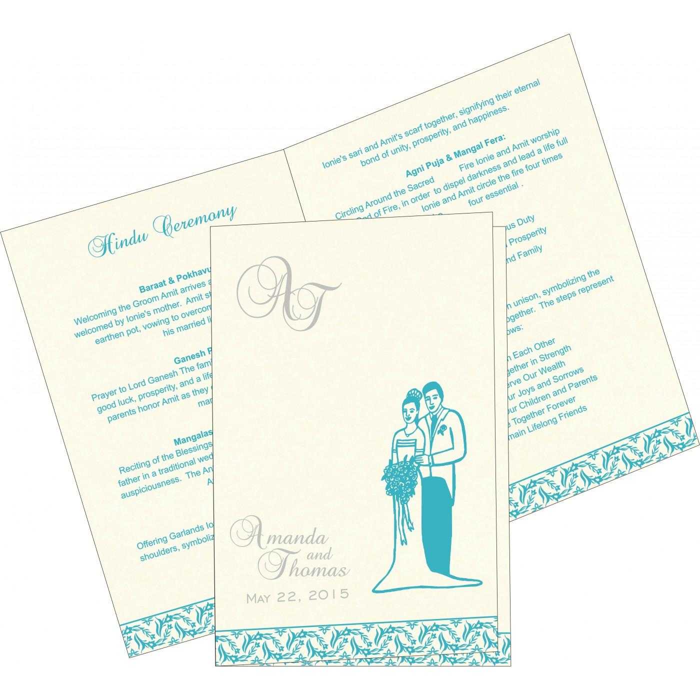 Program Booklets : PC-8249D - 123WeddingCards