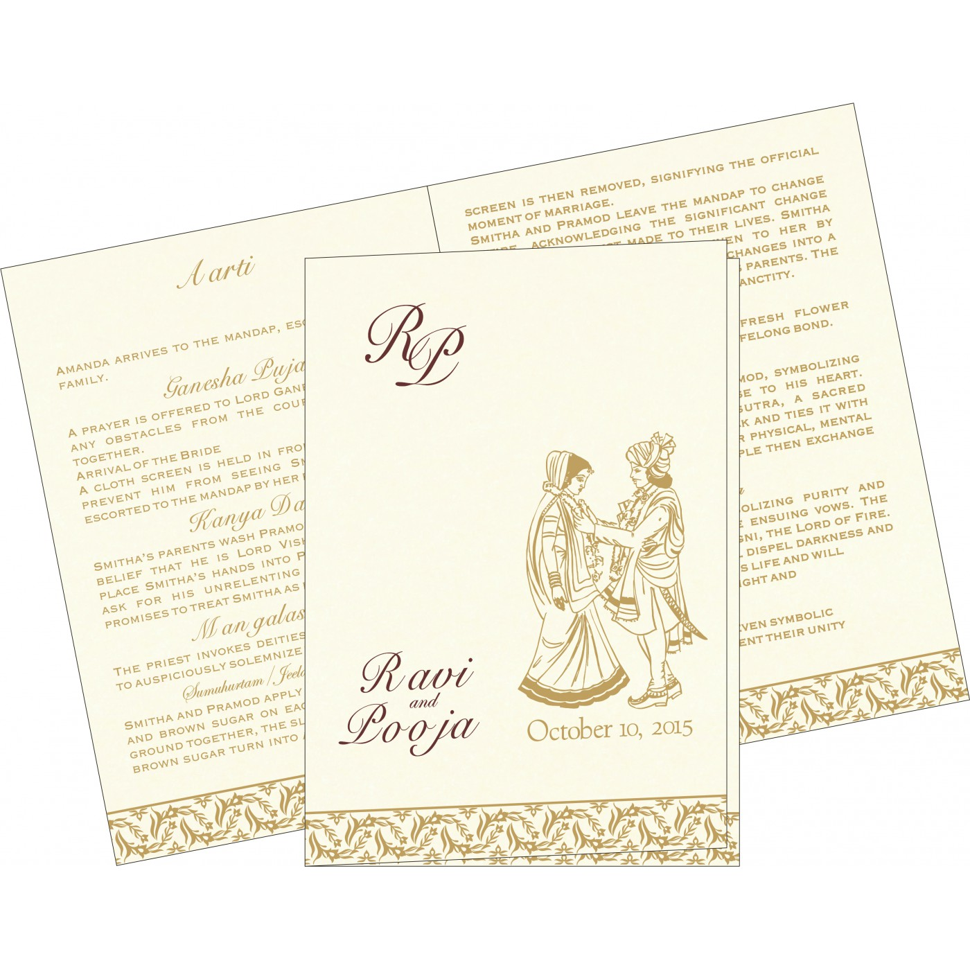 Program Booklets : PC-8249J - 123WeddingCards
