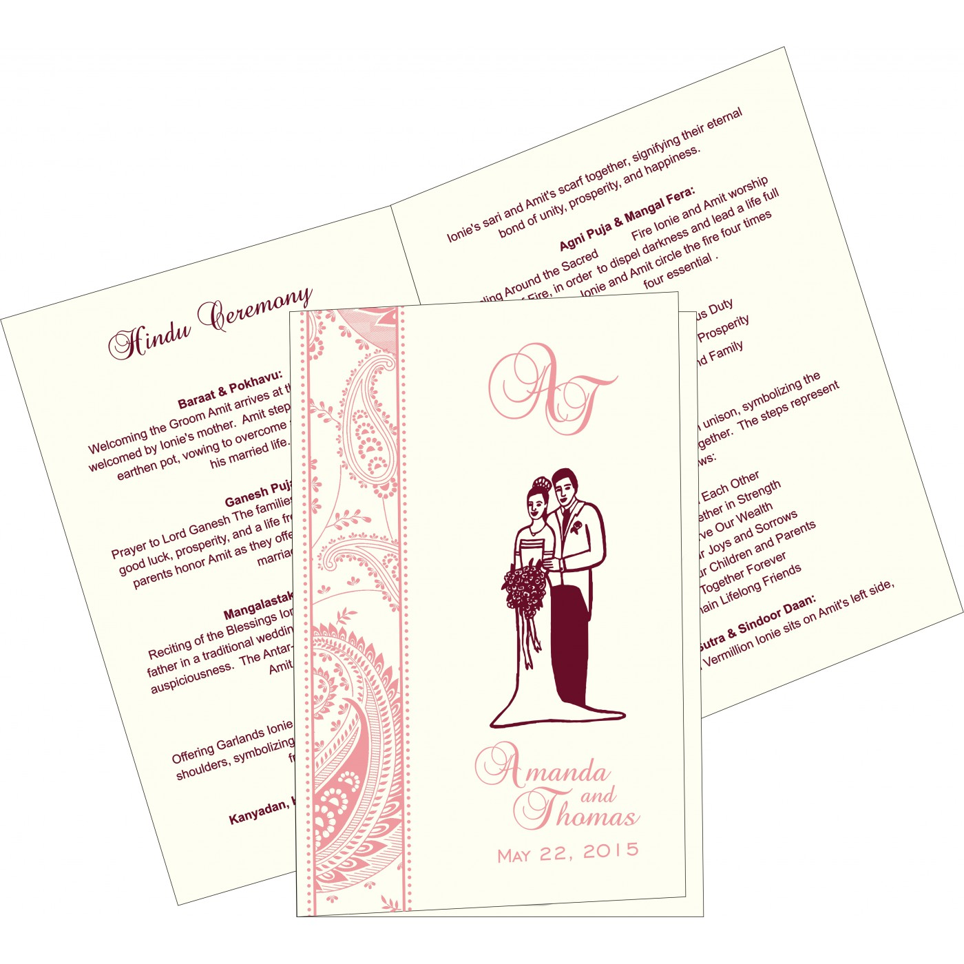 Program Booklets : PC-8250F - 123WeddingCards