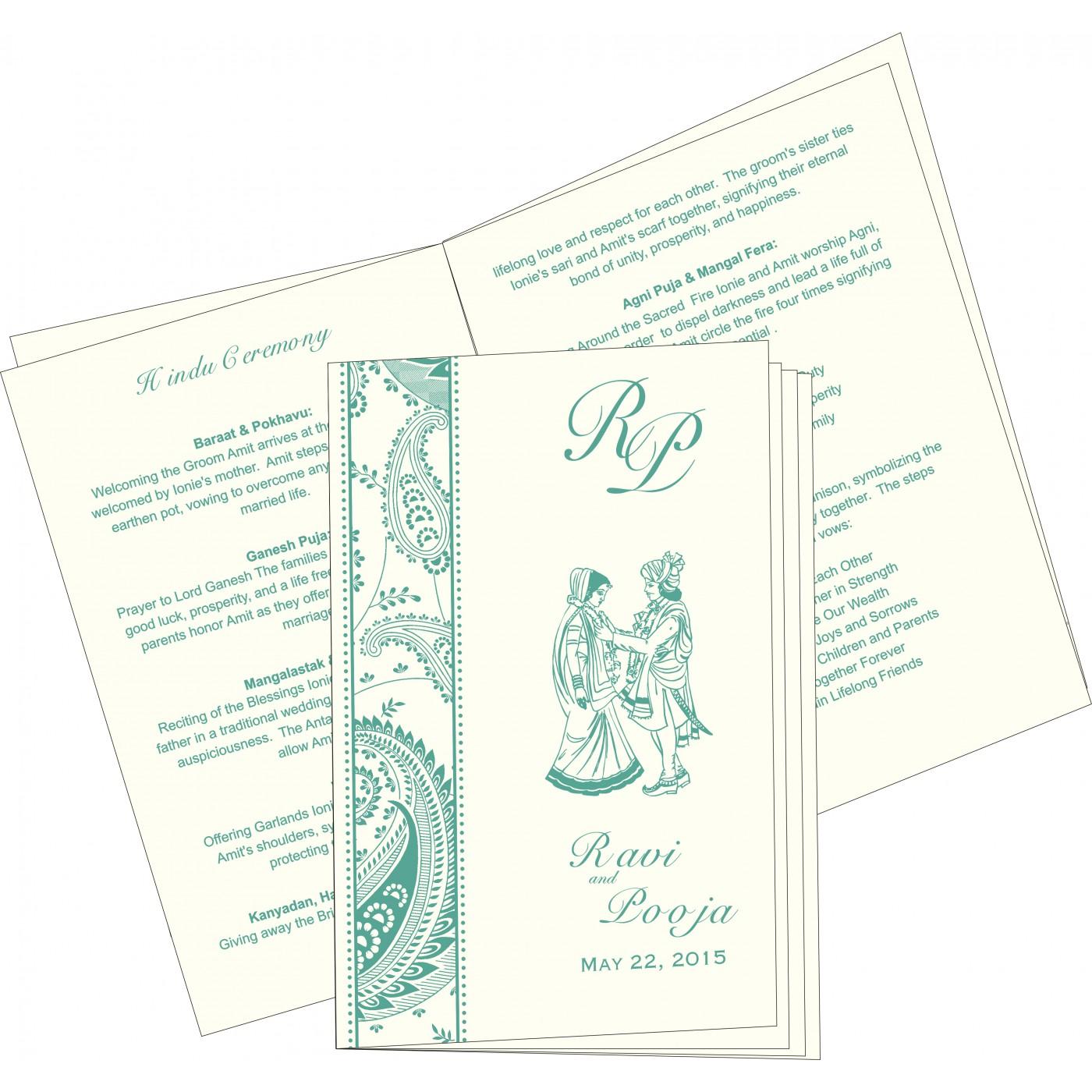 Program Booklets : PC-8250G - 123WeddingCards