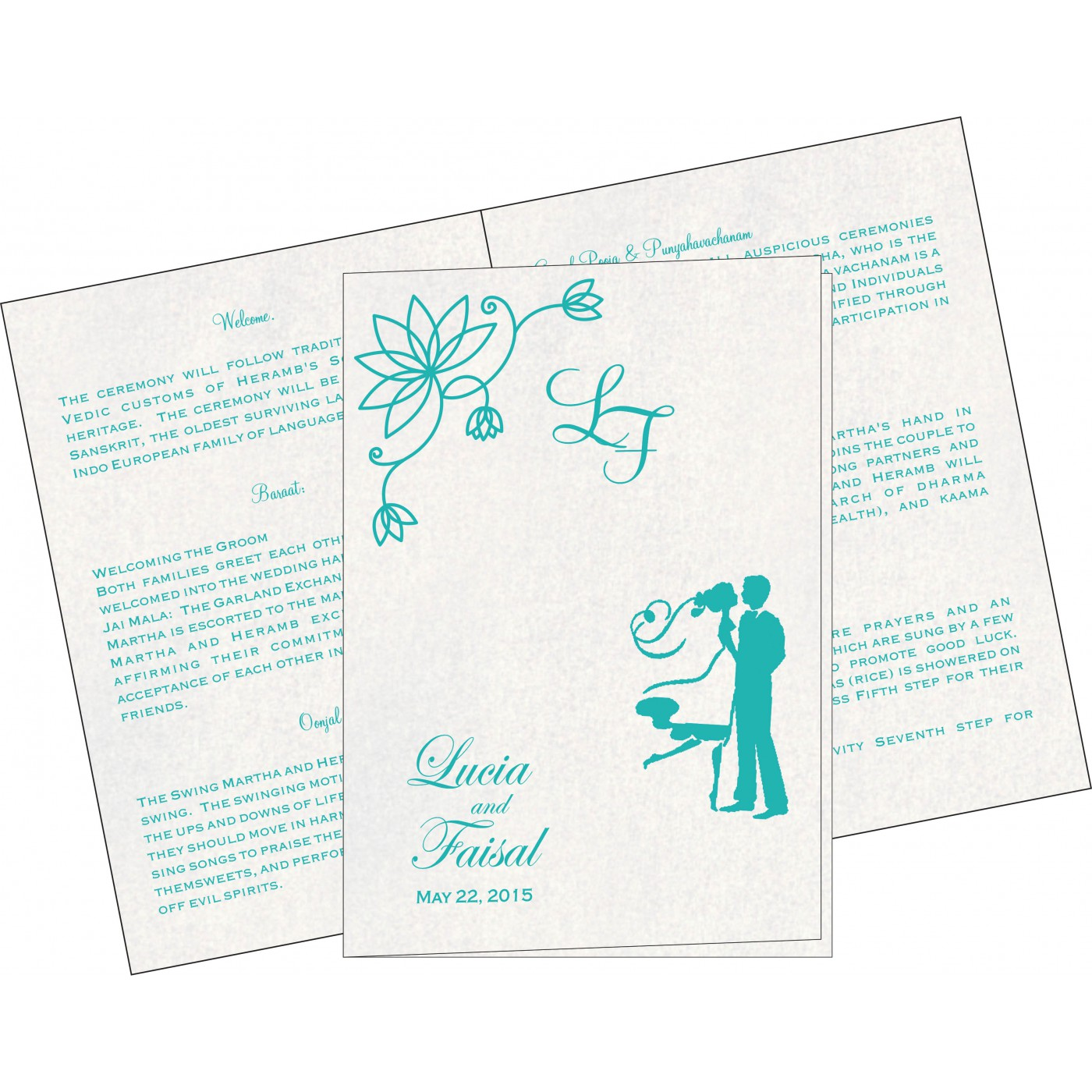 Program Booklets : PC-8251A - 123WeddingCards