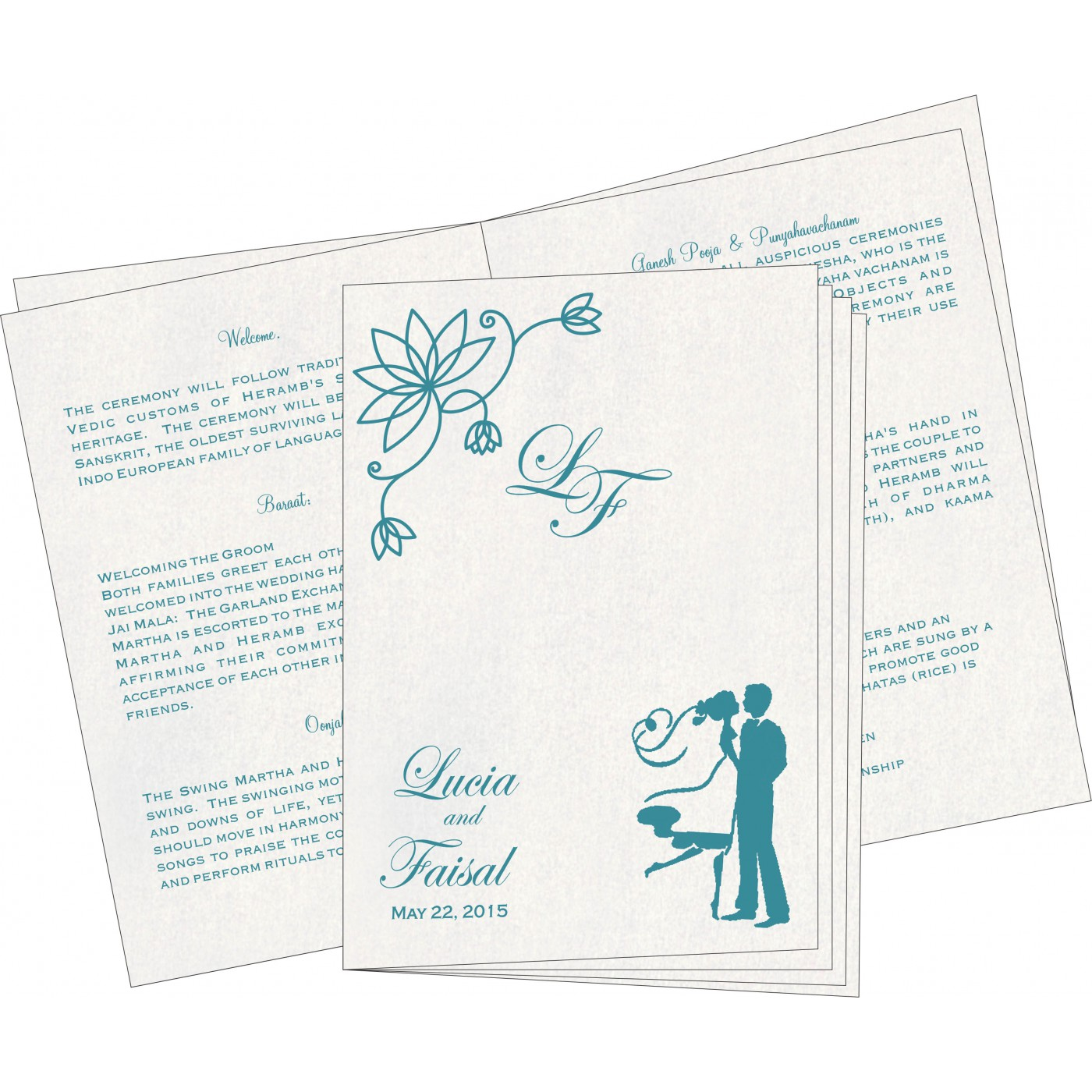 Program Booklets : PC-8251G - 123WeddingCards