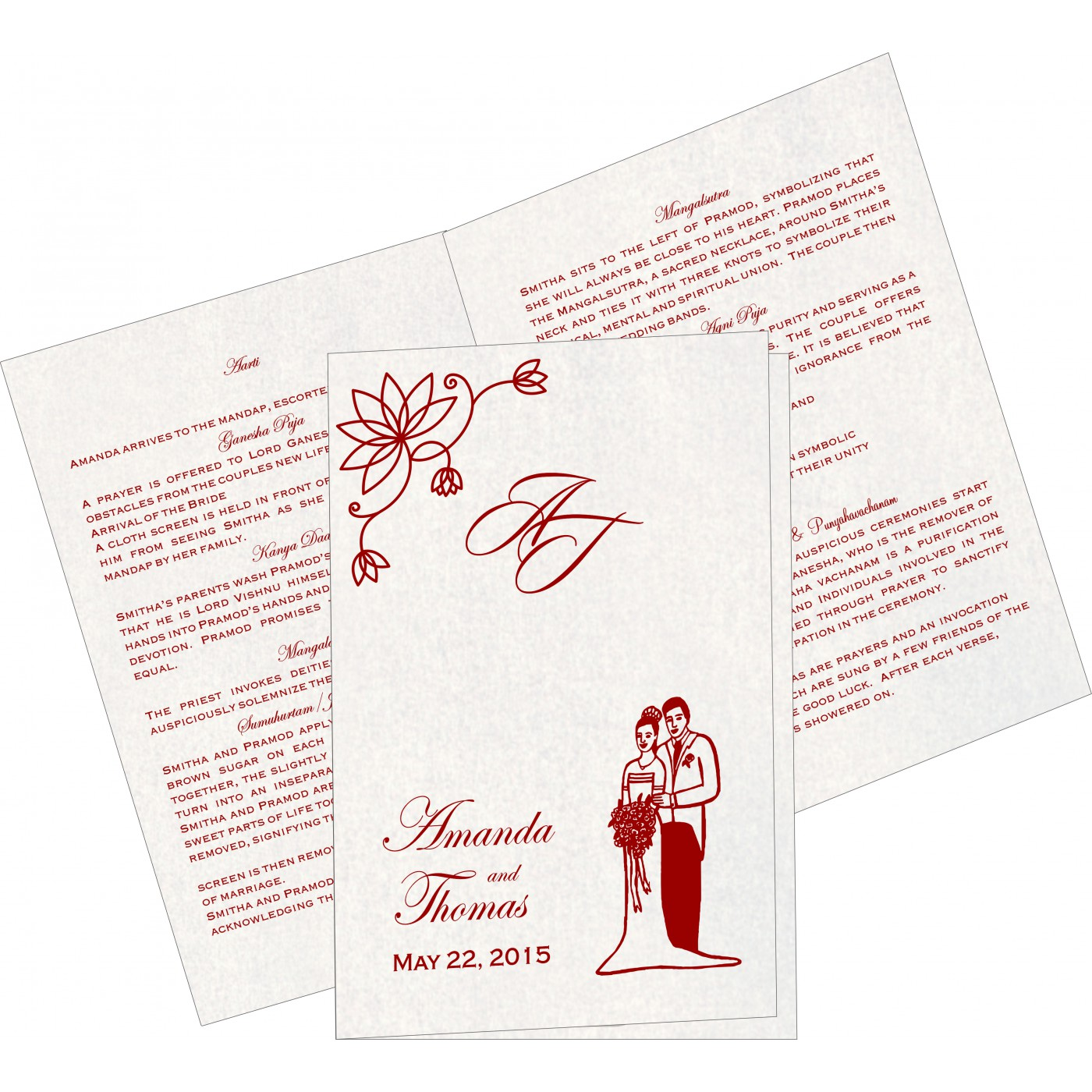 Program Booklets : PC-8251H - 123WeddingCards