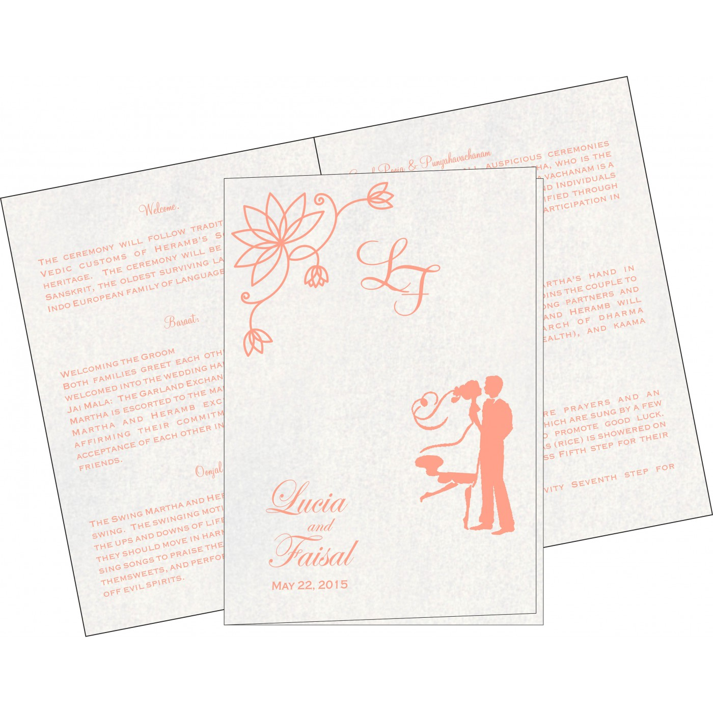 Program Booklets : PC-8251I - 123WeddingCards