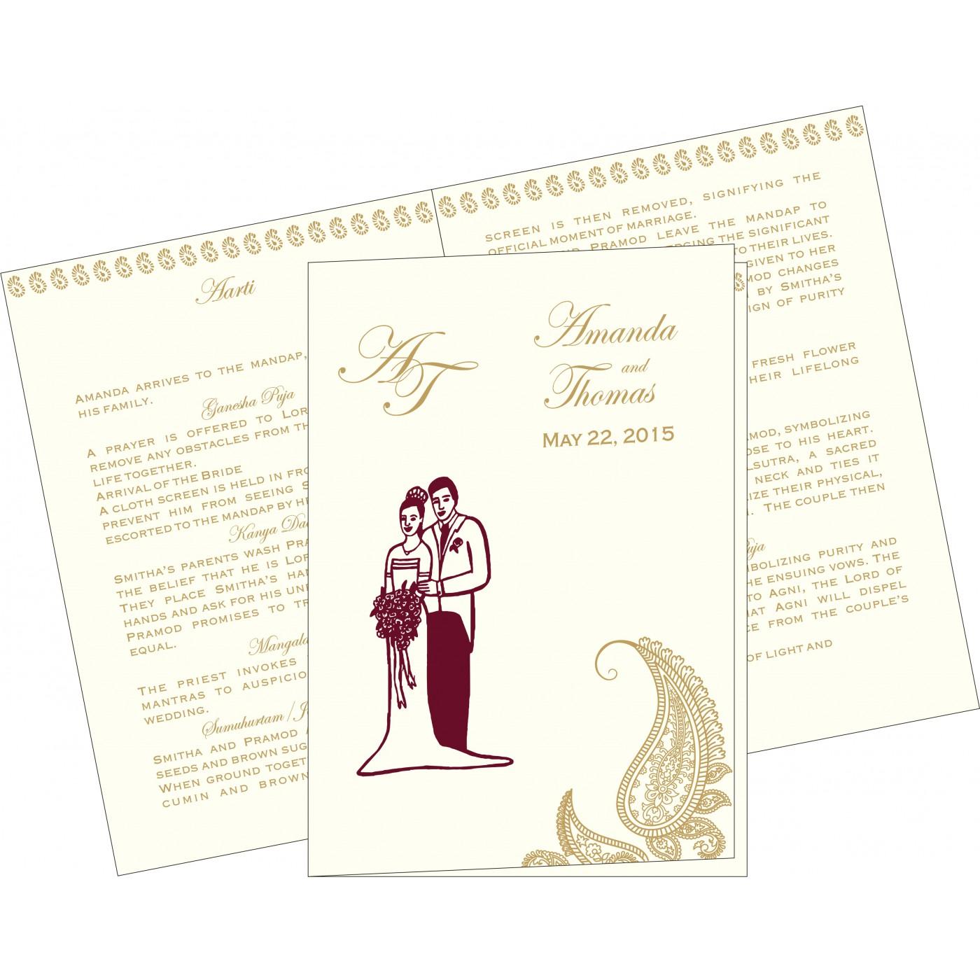 Program Booklets : PC-8252A - 123WeddingCards