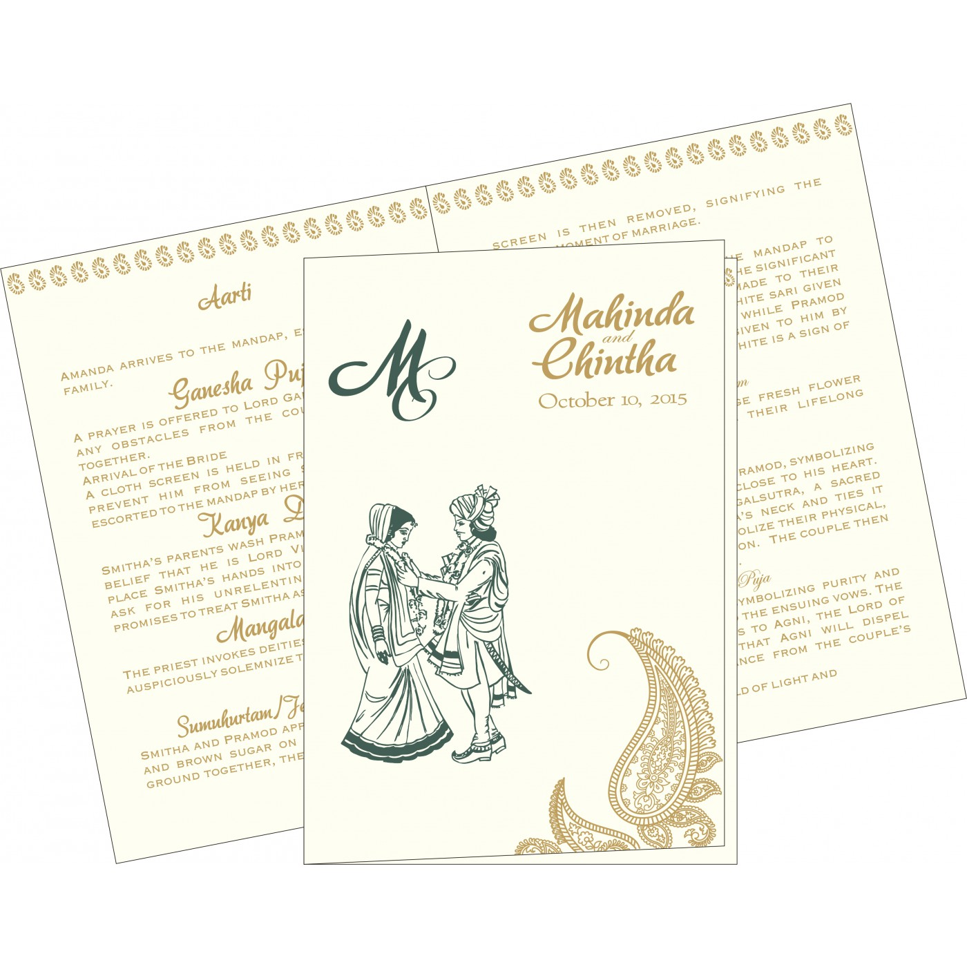 Program Booklets : PC-8252E - 123WeddingCards