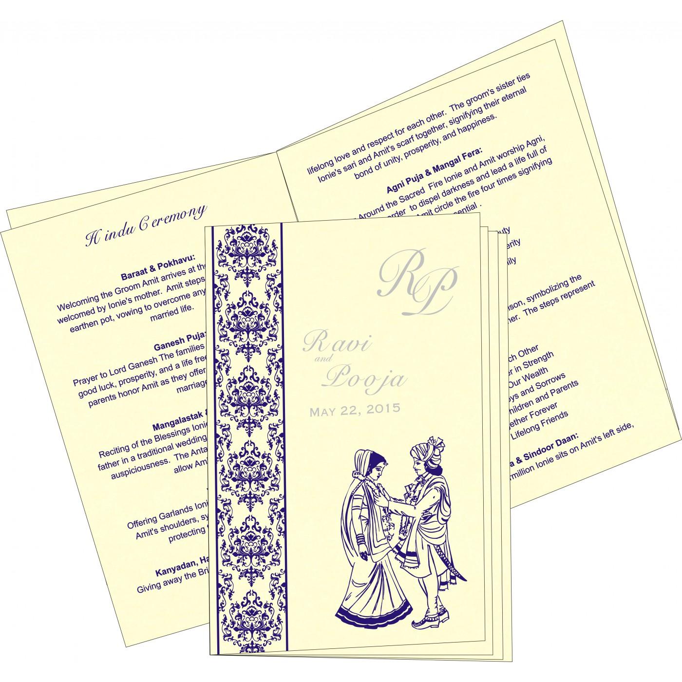Program Booklets : PC-8253D - 123WeddingCards