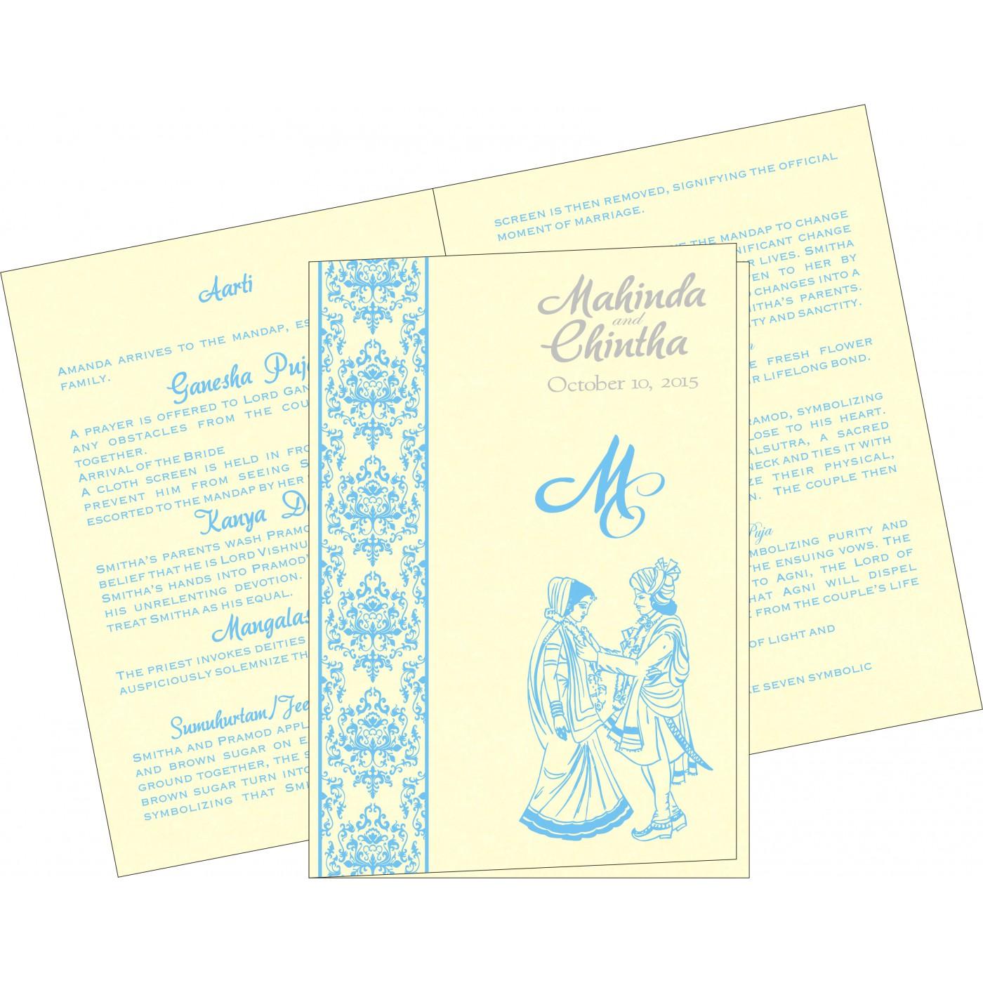 Program Booklets : PC-8253E - 123WeddingCards