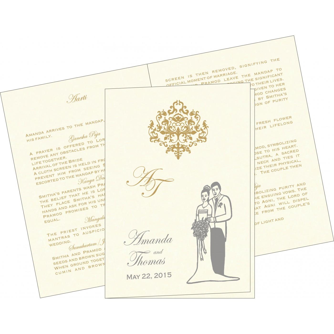 Program Booklets : PC-8254A - 123WeddingCards