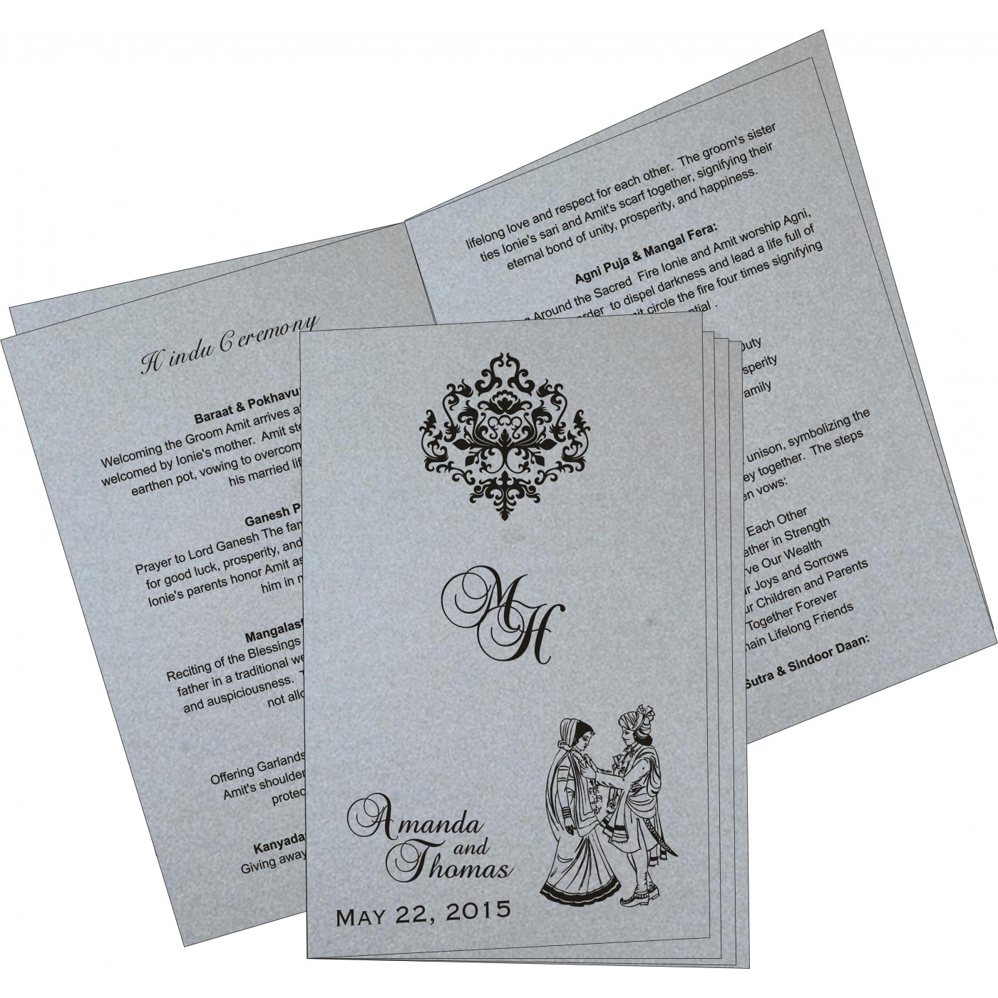 Program Booklets : PC-8254H - 123WeddingCards