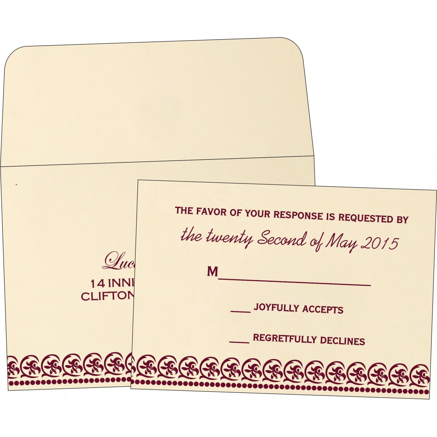 RSVP Cards : RSVP-1101 - 123WeddingCards