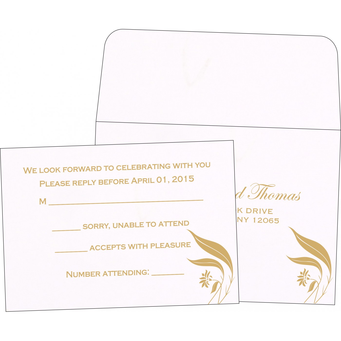 RSVP Cards : RSVP-1114 - 123WeddingCards