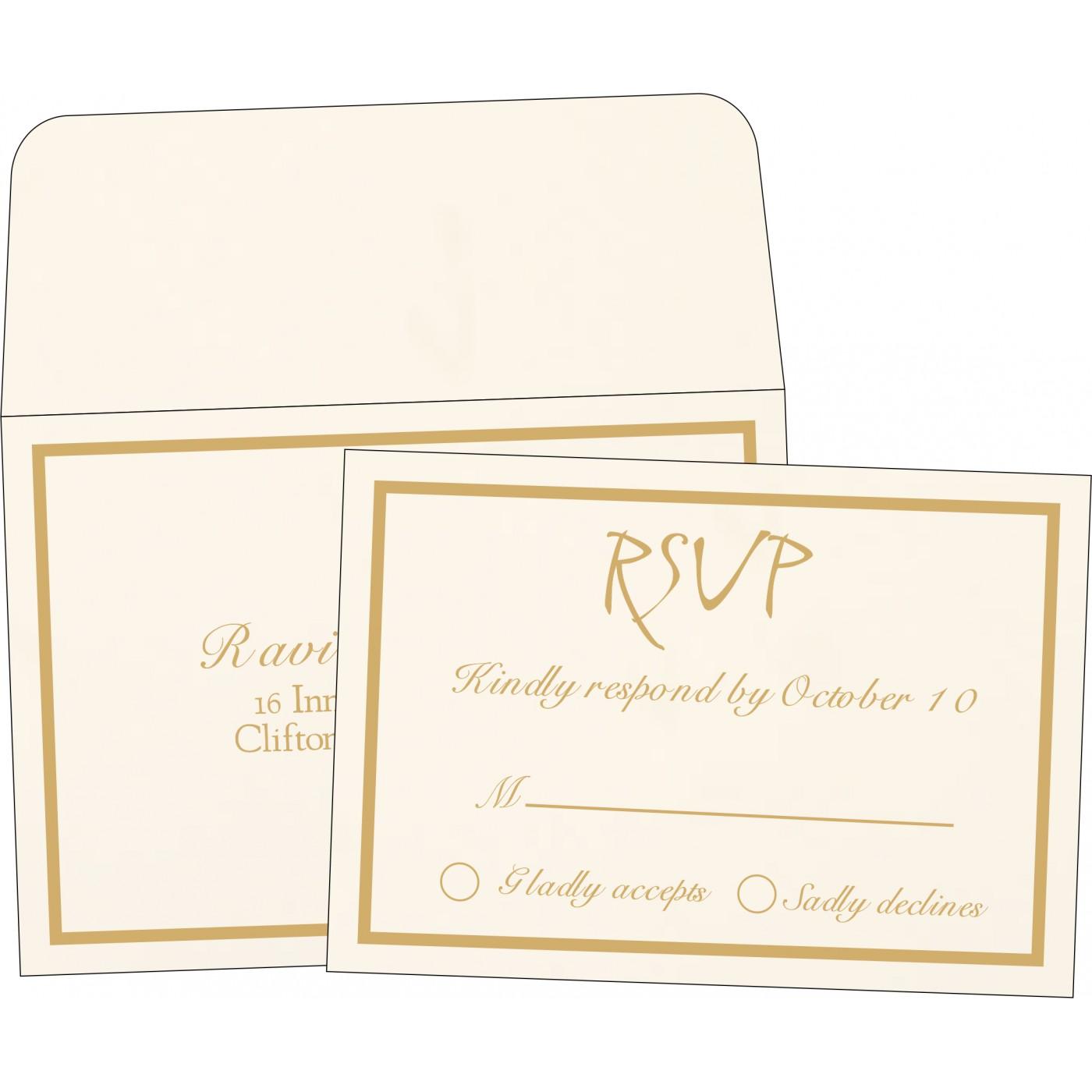 RSVP Cards : RSVP-1144 - 123WeddingCards