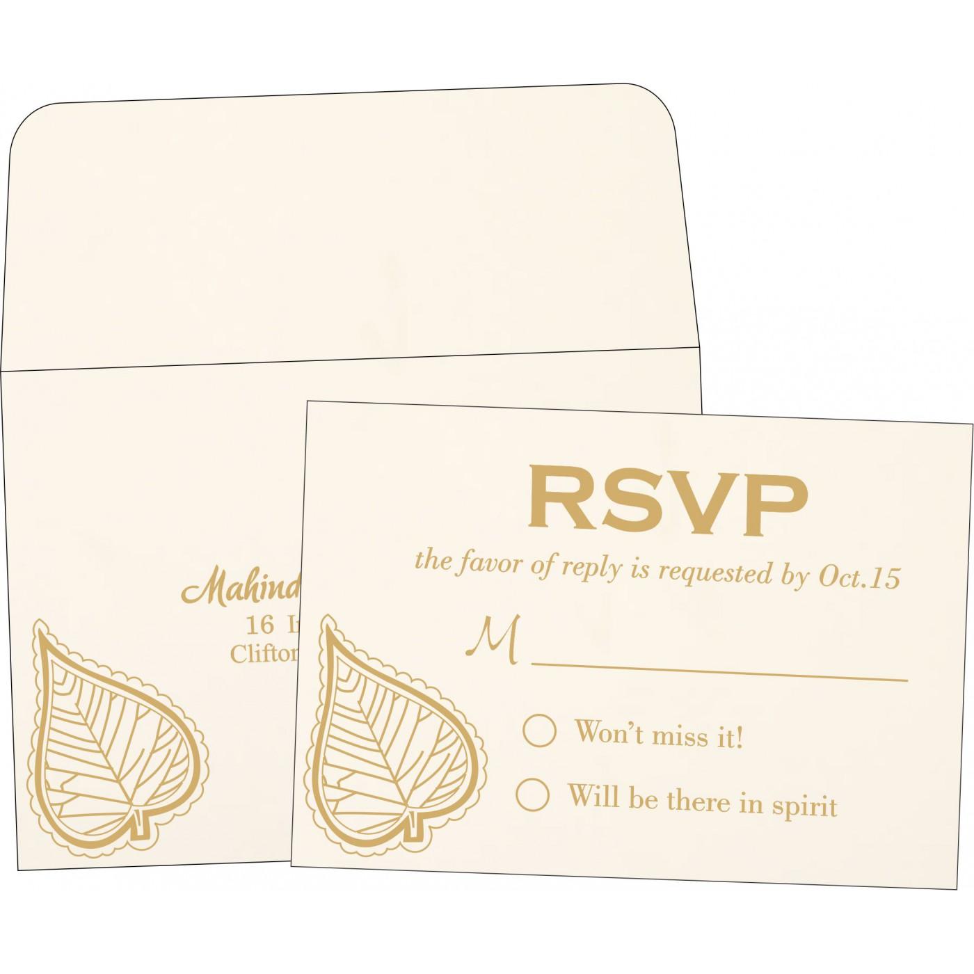 RSVP Cards : RSVP-1153 - 123WeddingCards