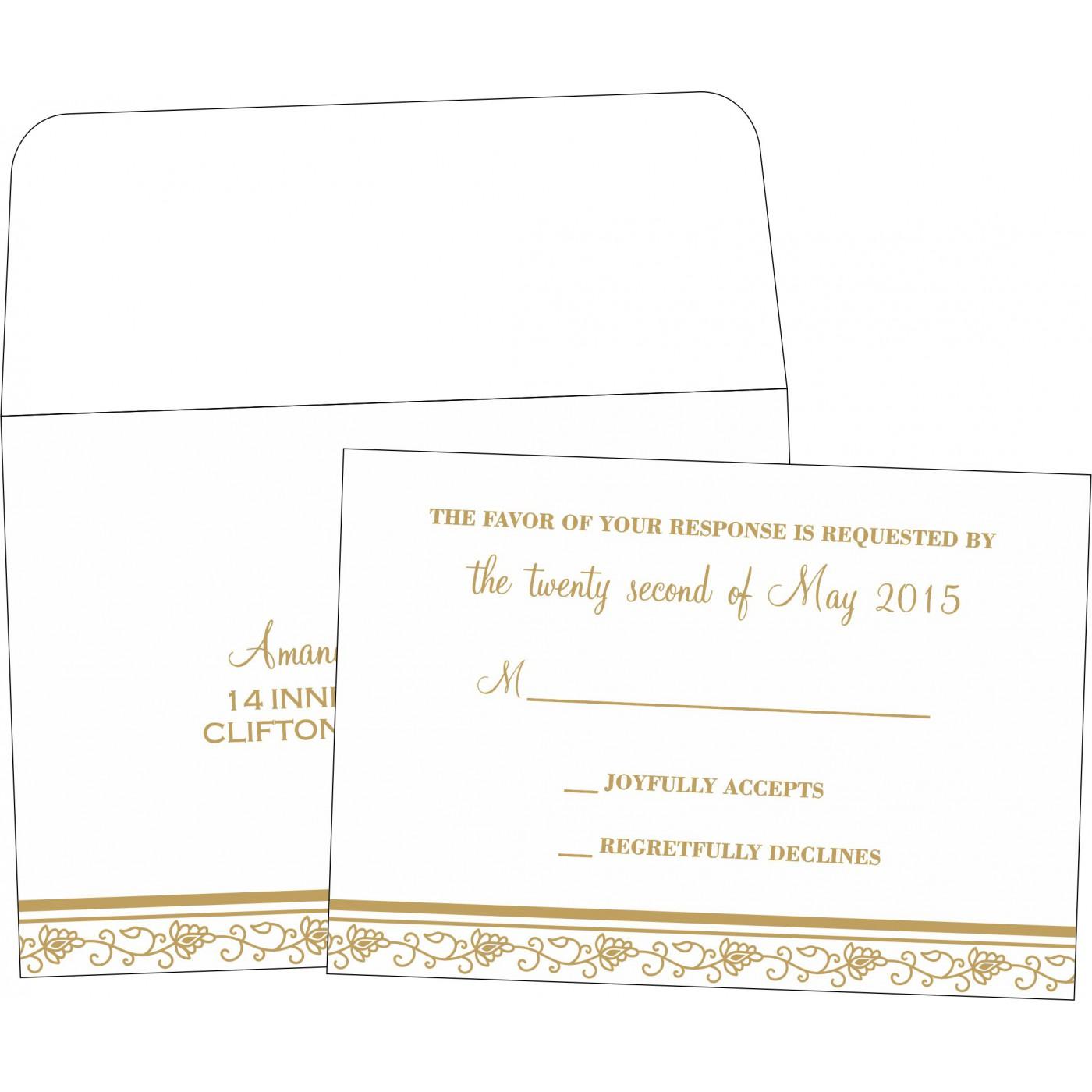 RSVP Cards : RSVP-1171 - 123WeddingCards