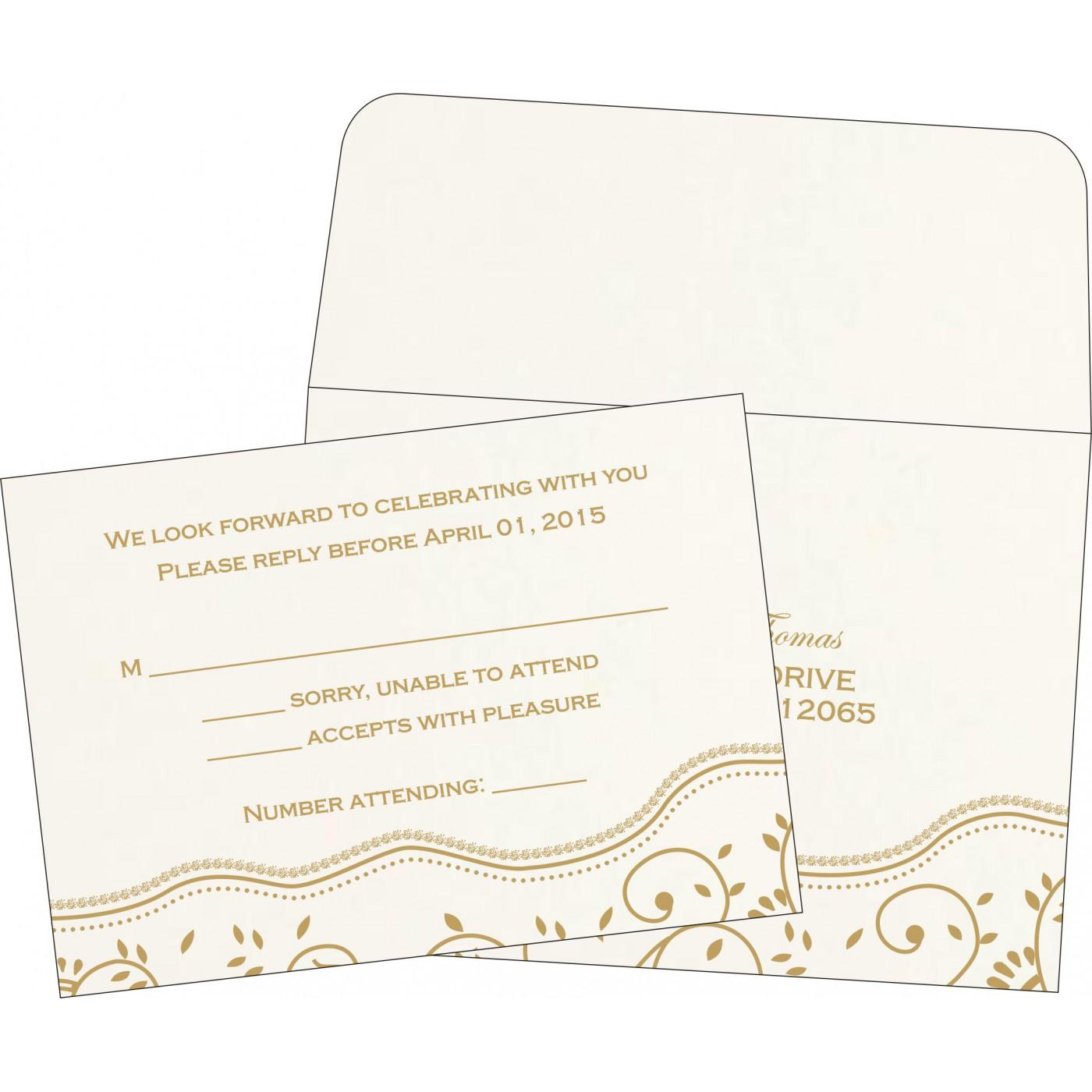 RSVP Cards : RSVP-1197 - 123WeddingCards