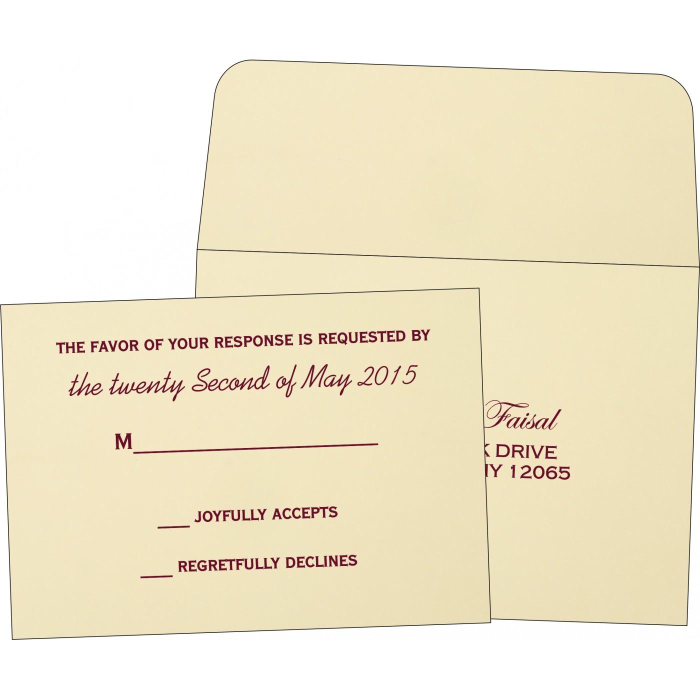 RSVP Cards : RSVP-1203 - 123WeddingCards