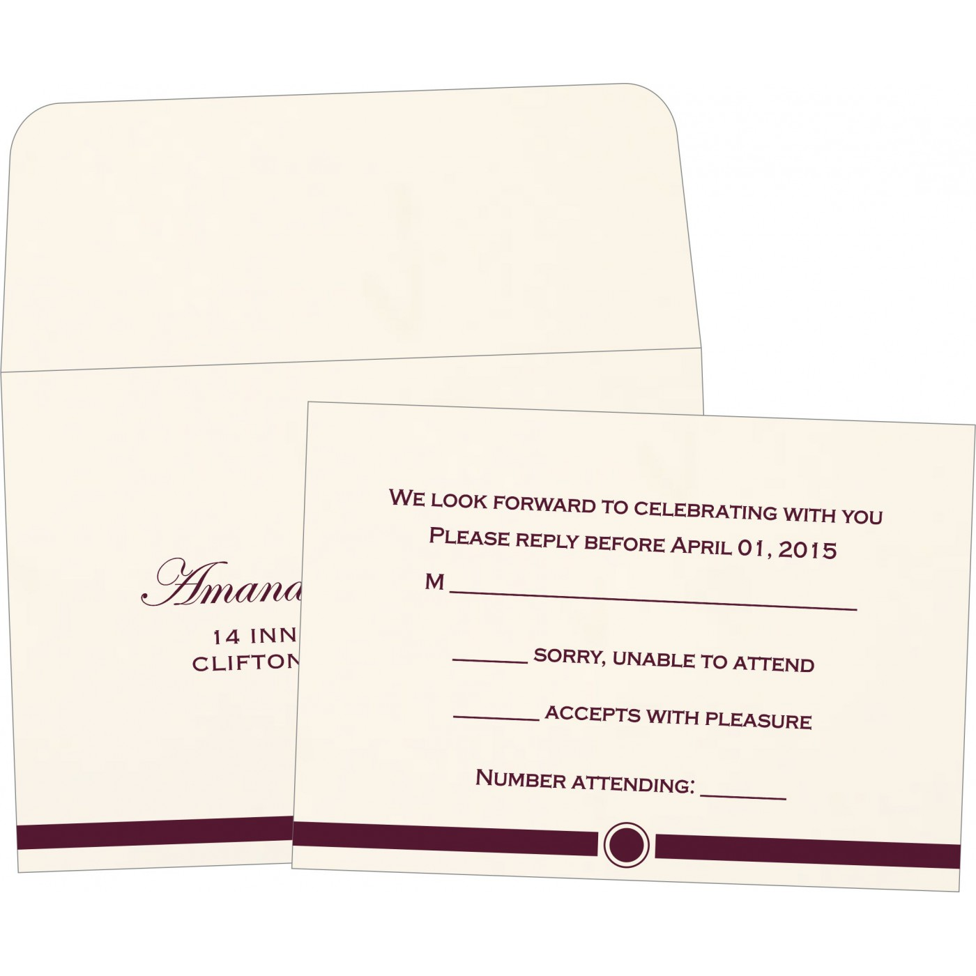 RSVP Cards : RSVP-1204 - 123WeddingCards
