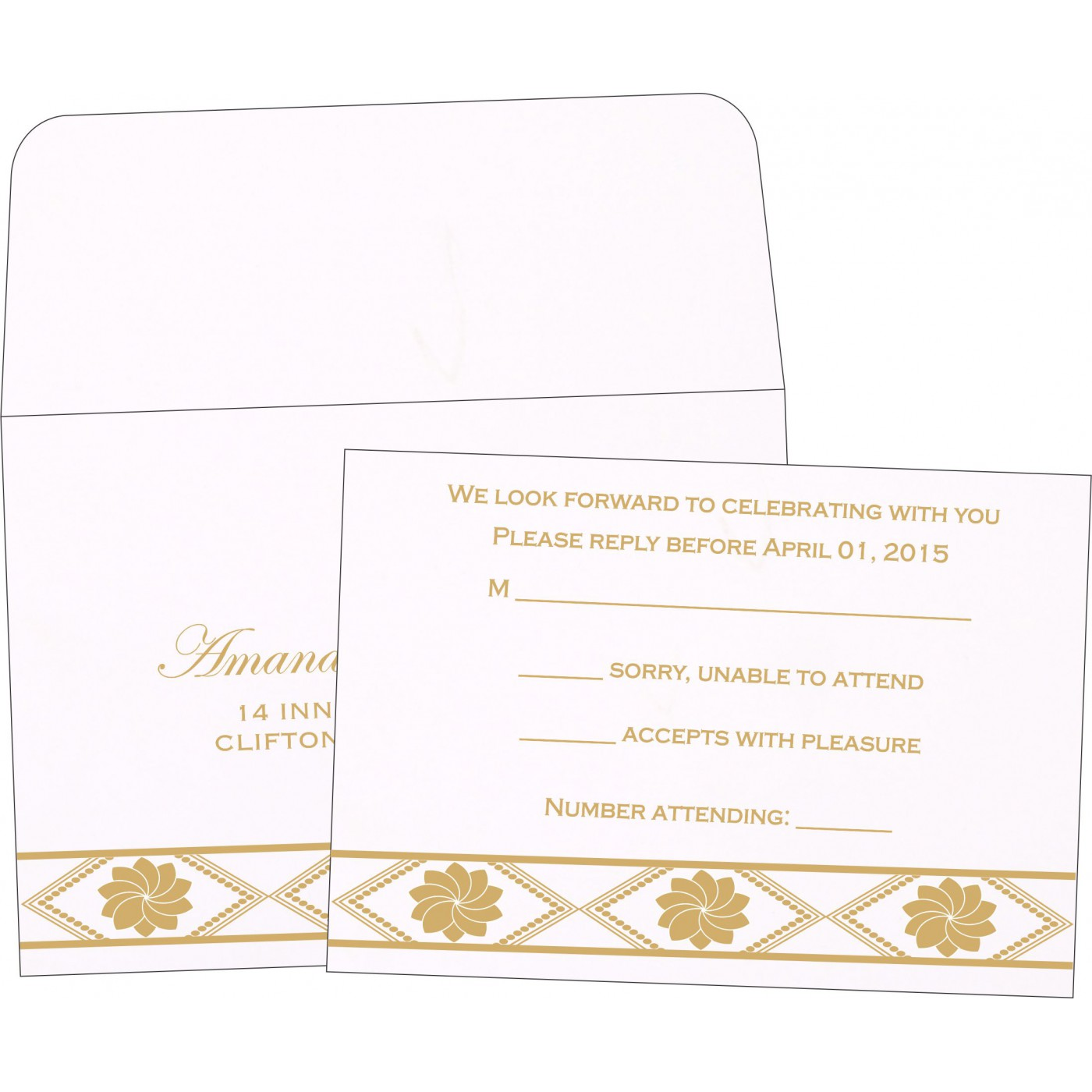 RSVP Cards : RSVP-1228 - 123WeddingCards