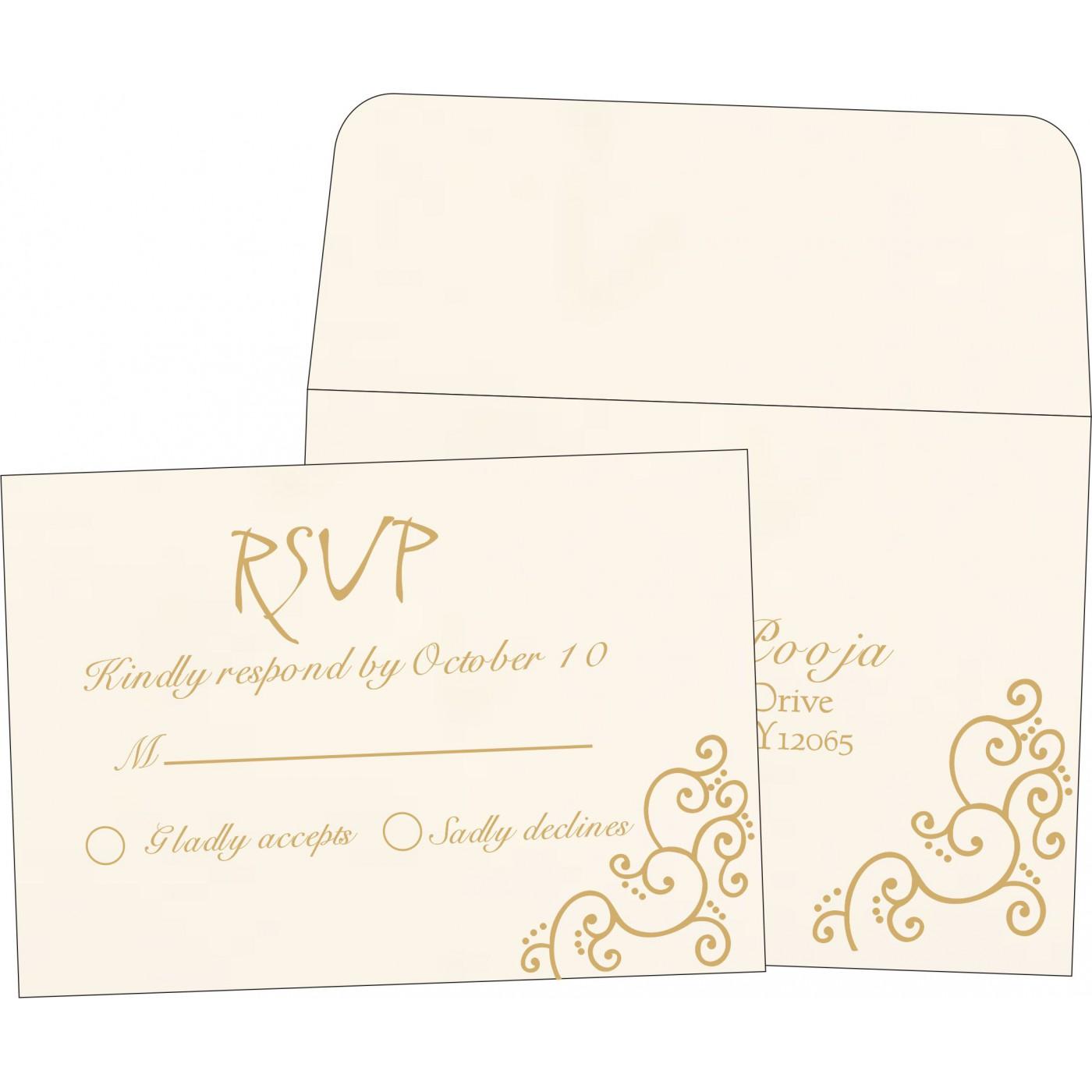 RSVP Cards : RSVP-1236 - 123WeddingCards