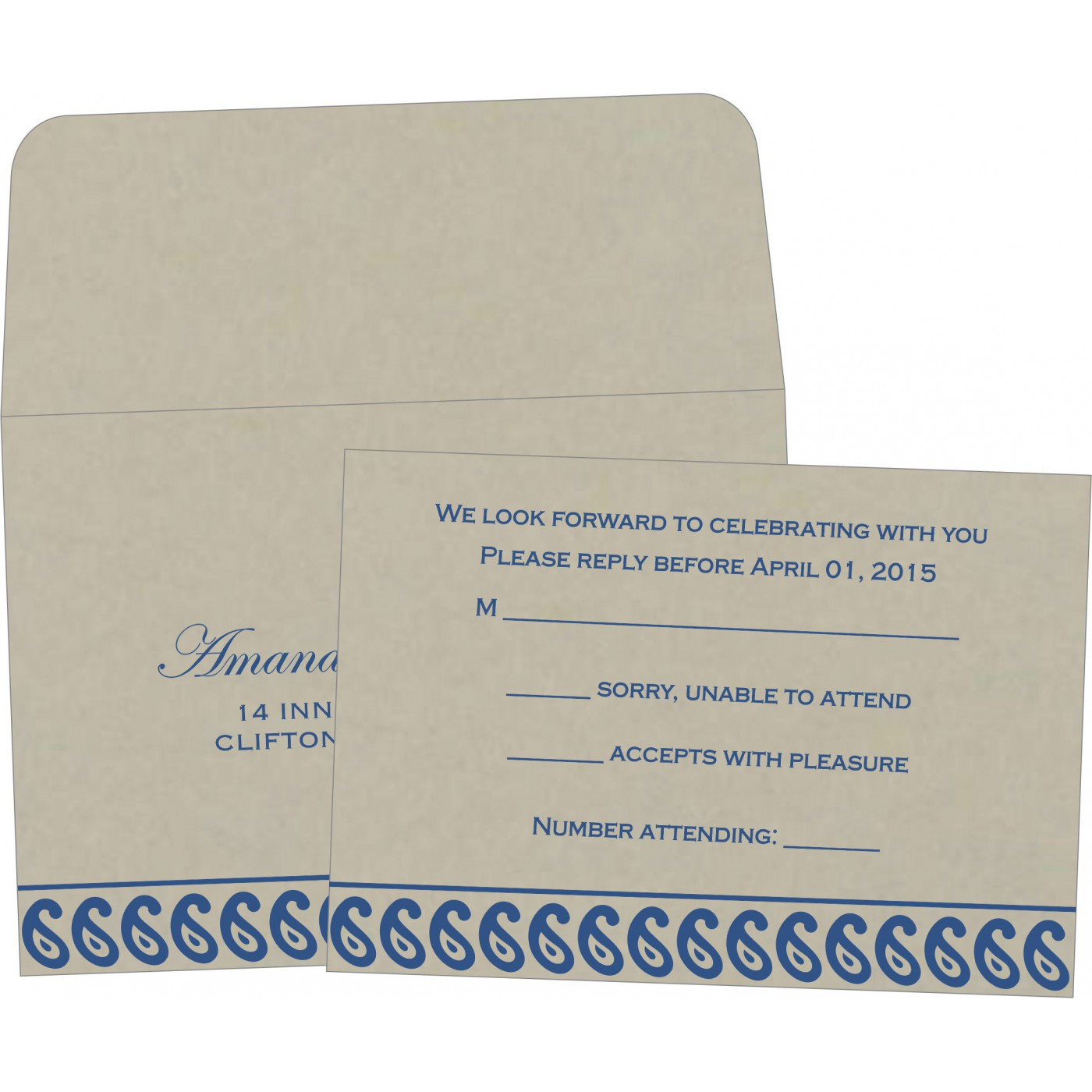 RSVP Cards : RSVP-1261 - 123WeddingCards