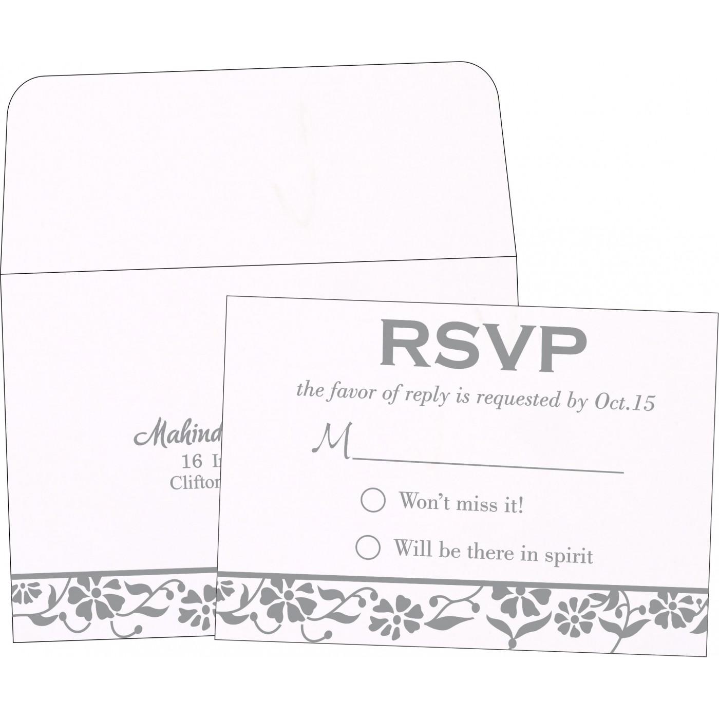 RSVP Cards : RSVP-1291 - 123WeddingCards