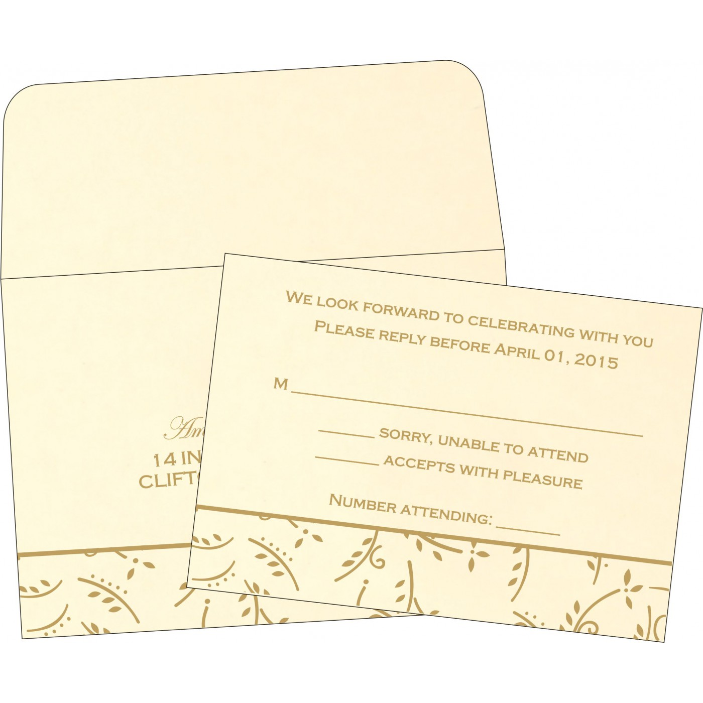 RSVP Cards : RSVP-1303 - 123WeddingCards
