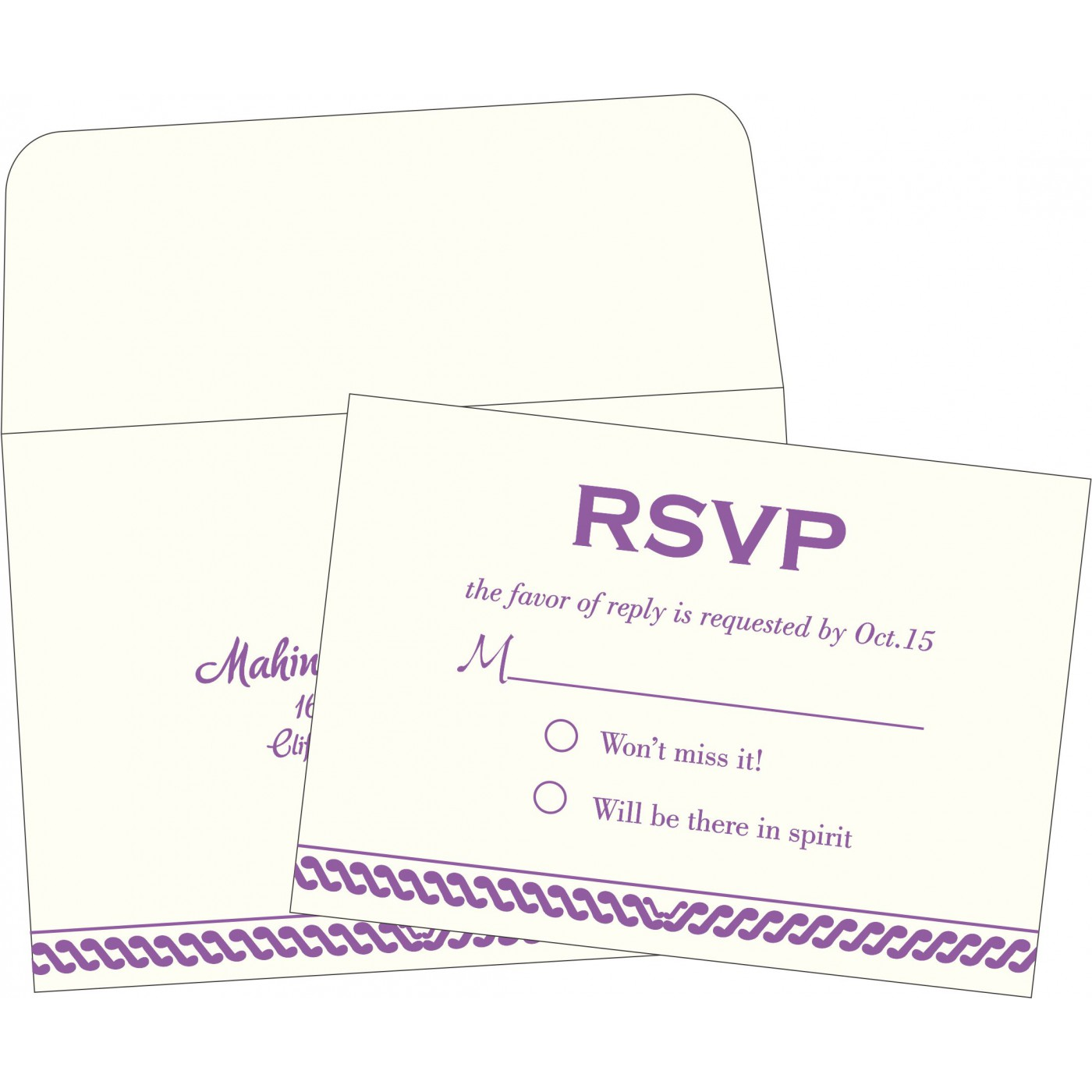 RSVP Cards : RSVP-1327 - 123WeddingCards