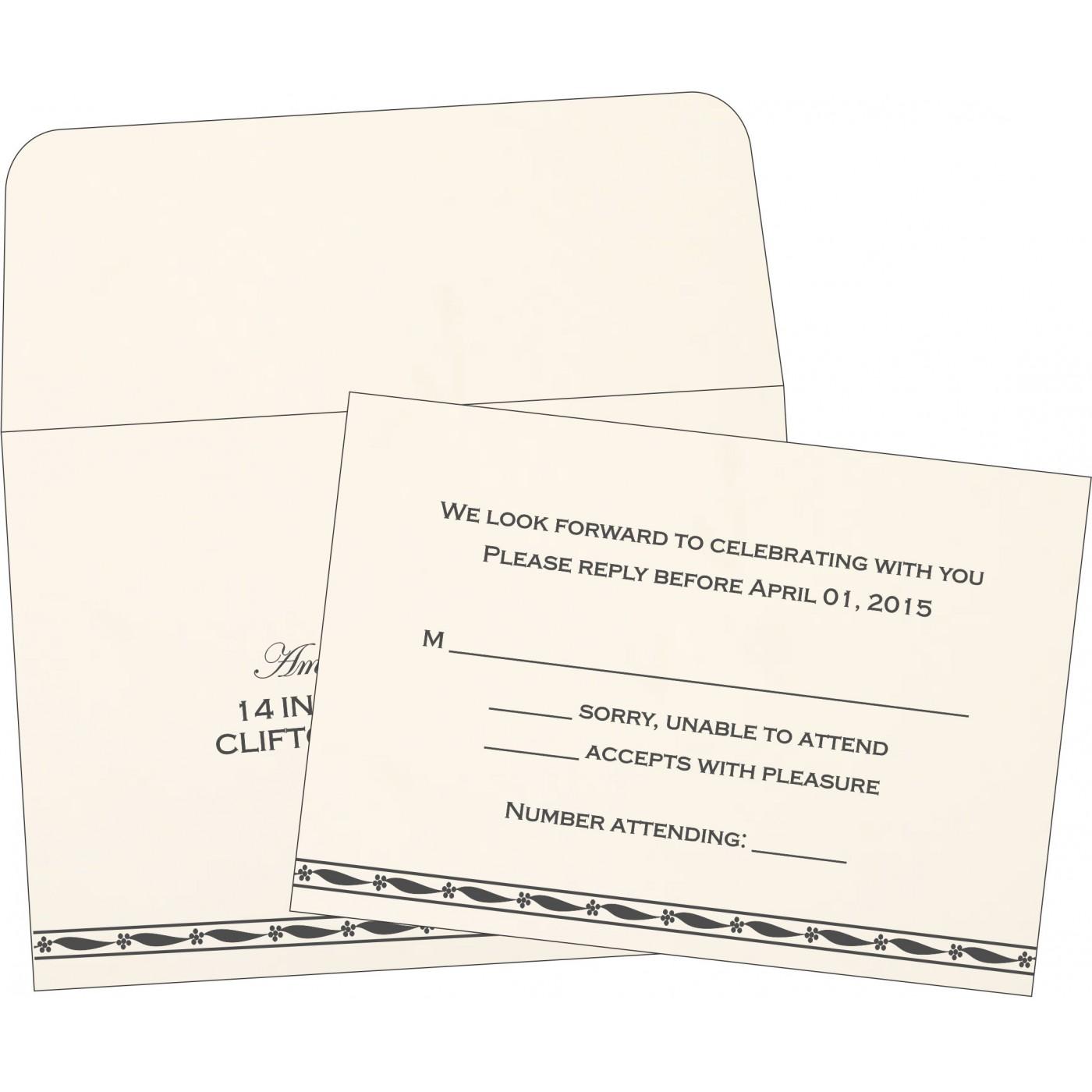 RSVP Cards : RSVP-1328 - 123WeddingCards