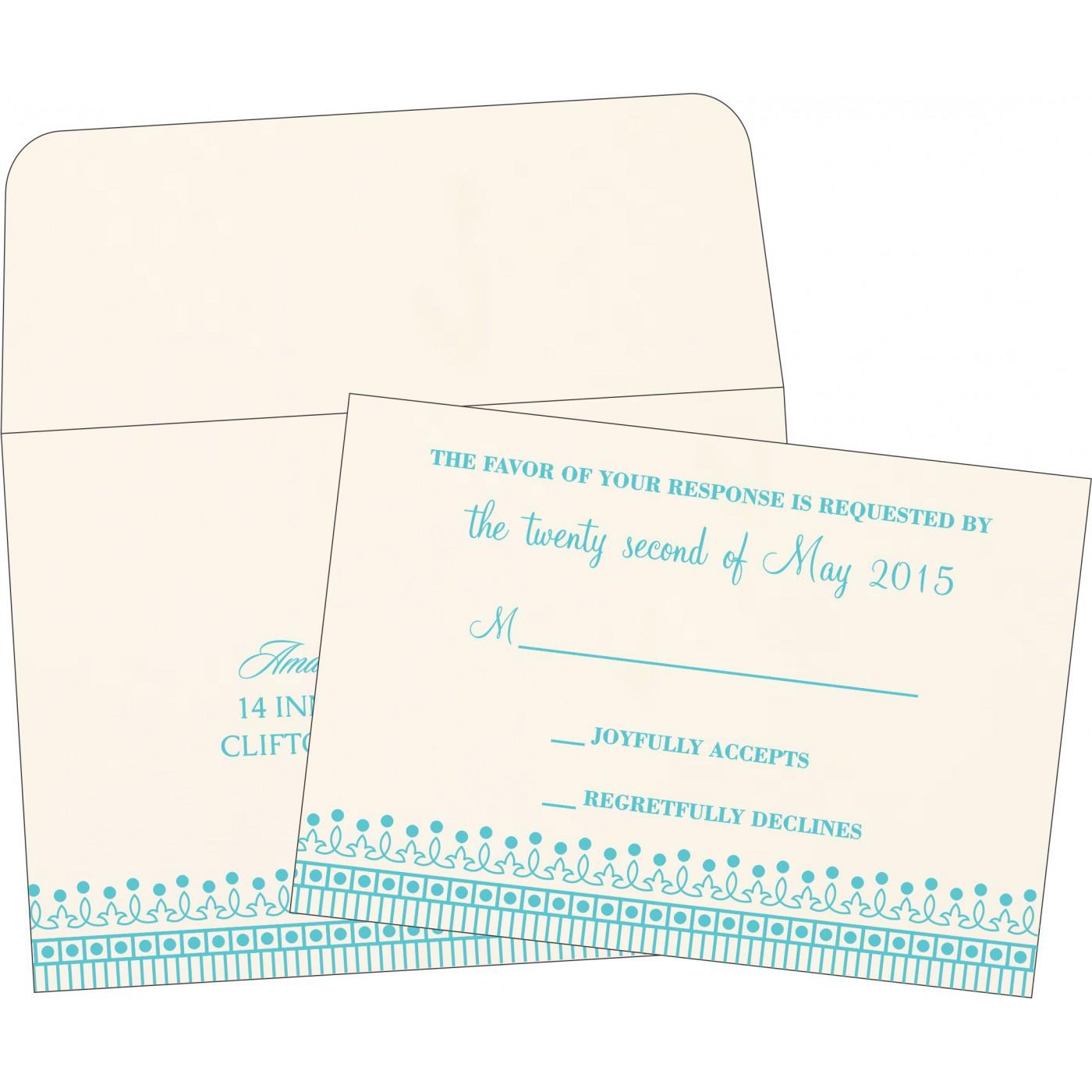 RSVP Cards : RSVP-1338 - 123WeddingCards