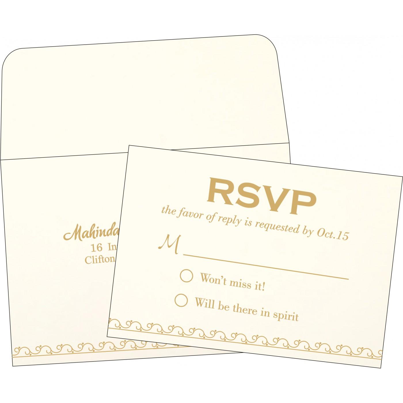 RSVP Cards : RSVP-1351 - 123WeddingCards