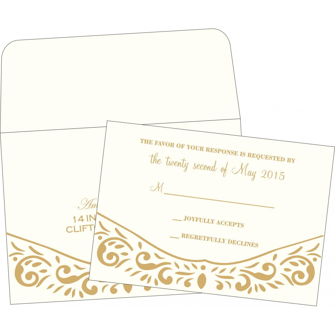 RSVP Cards : RSVP-1367 - 123WeddingCards