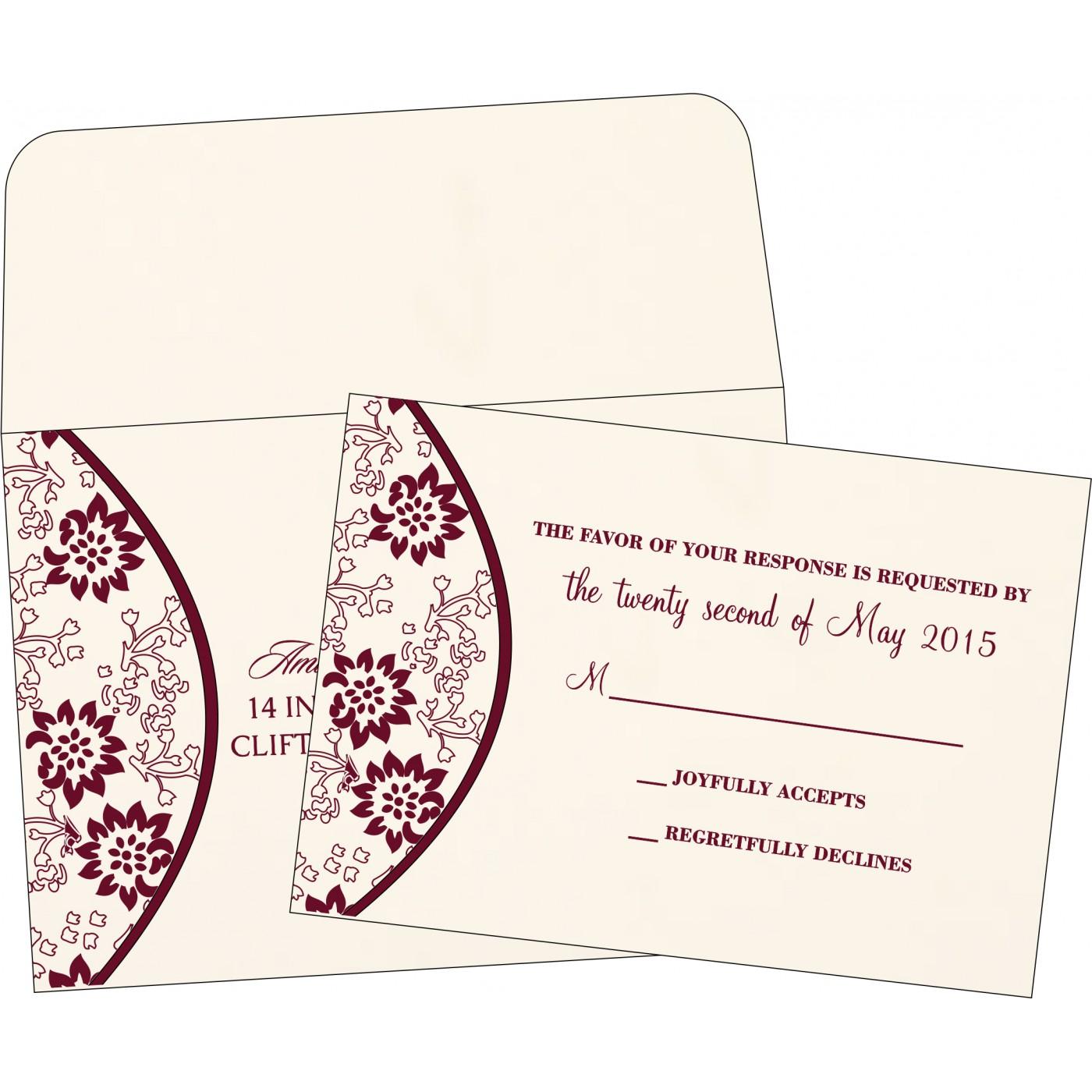 RSVP Cards : RSVP-1391 - 123WeddingCards