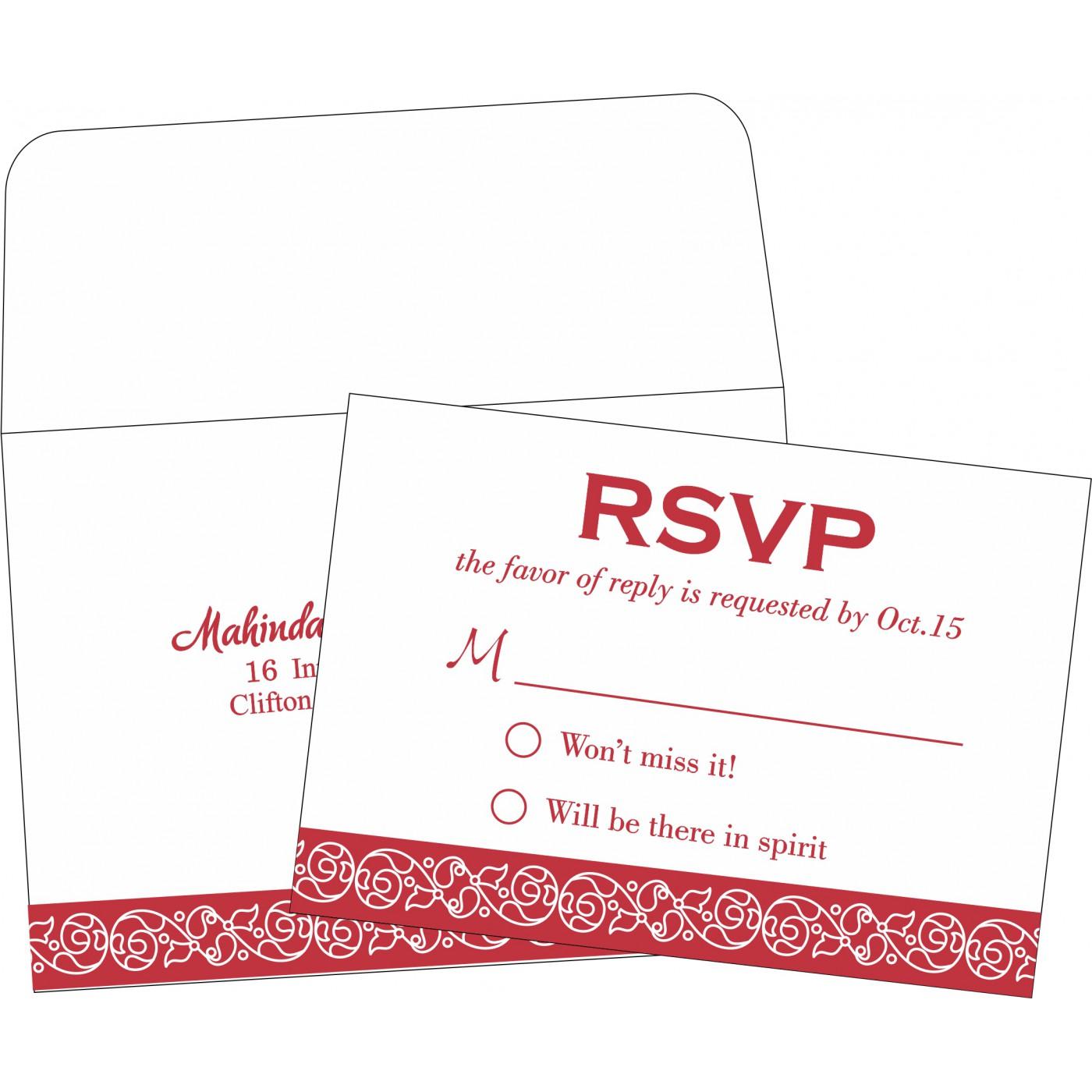 RSVP Cards : RSVP-1396 - 123WeddingCards